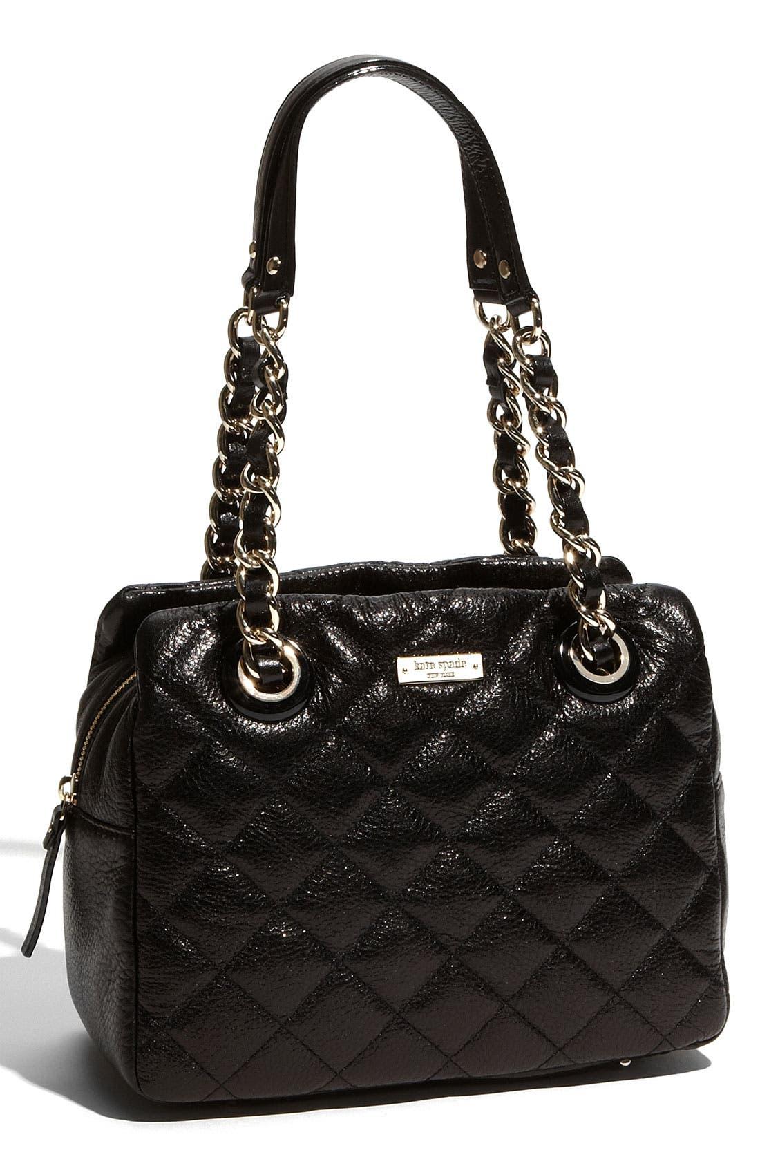'gold coast - elizabeth' quilted leather shoulder bag, Main, color, 001