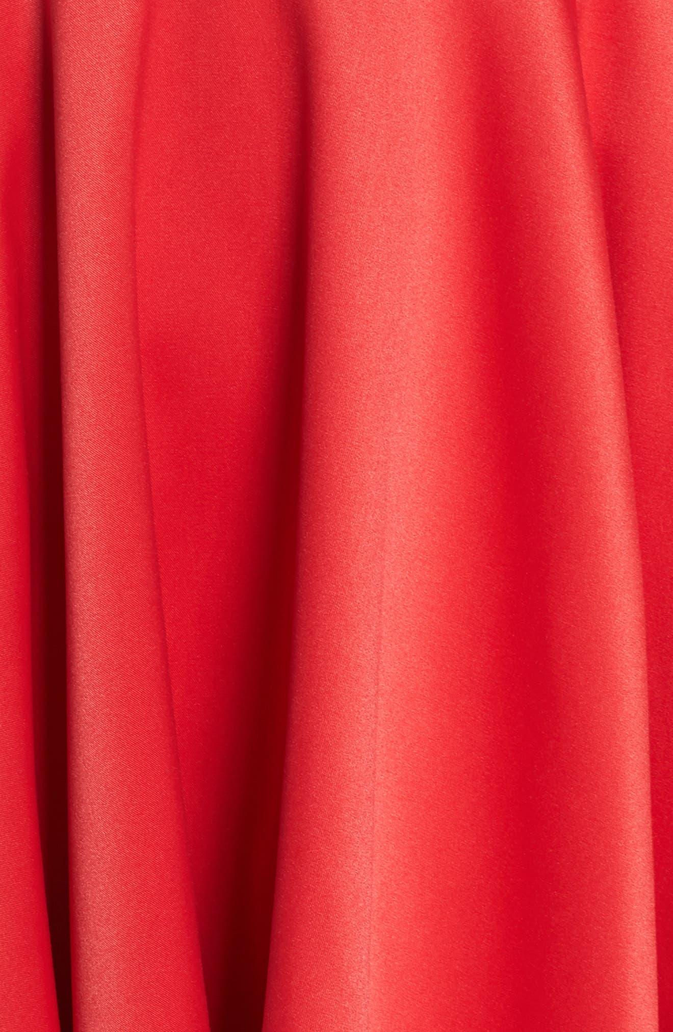 Cold Shoulder High/Low Gown,                             Alternate thumbnail 5, color,                             611