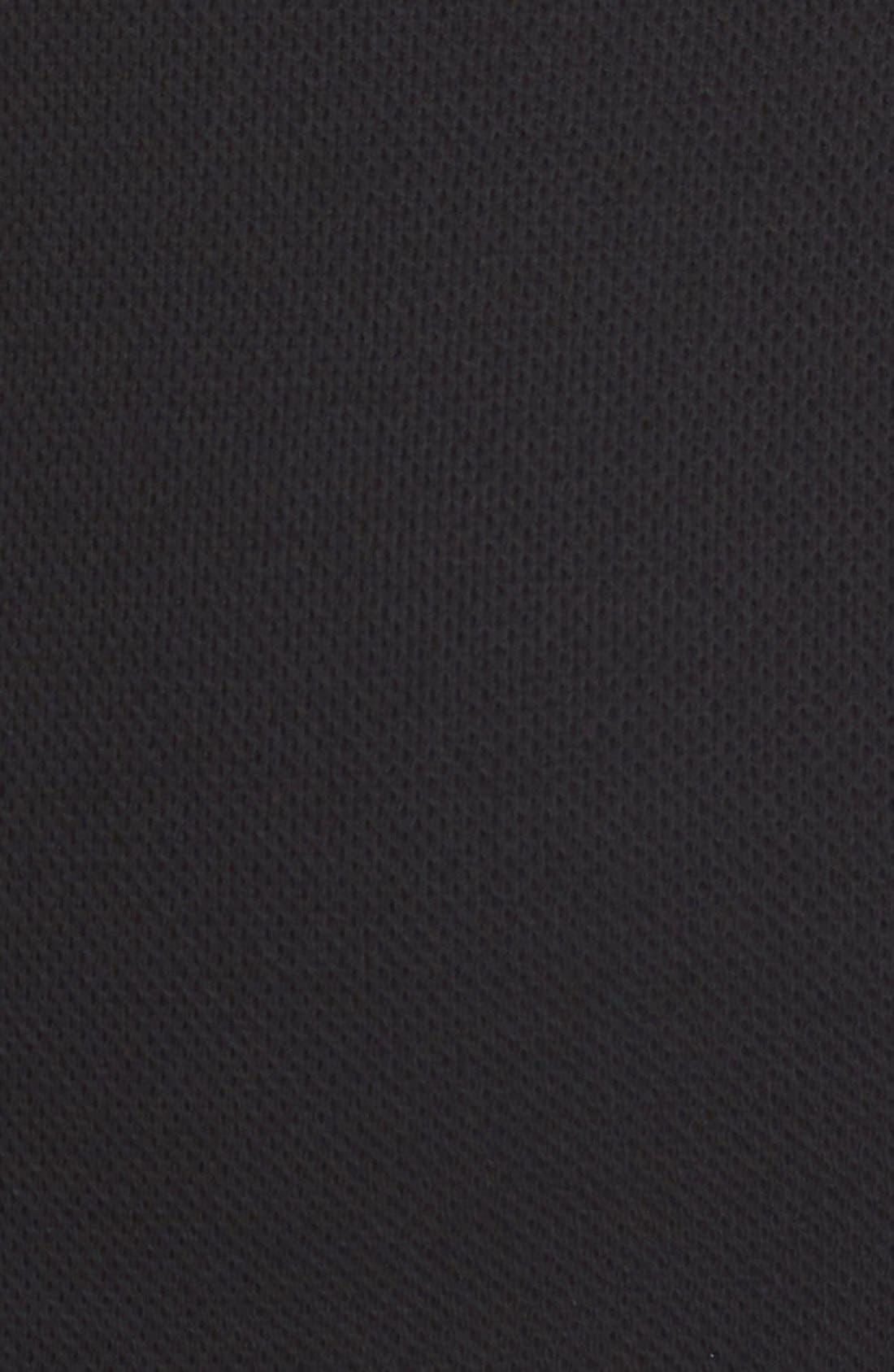 Milano Piqué Knit Scoop Neck Dress,                             Alternate thumbnail 6, color,                             001