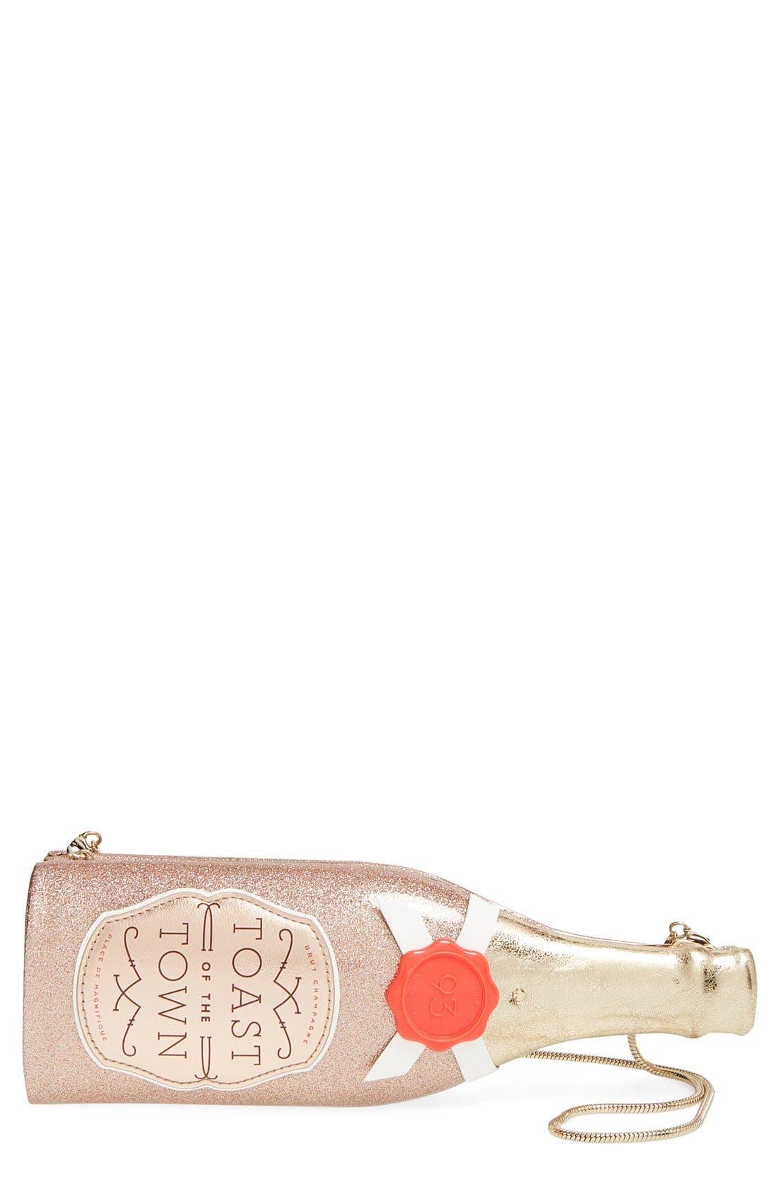 'champagne bottle' clutch,                             Main thumbnail 1, color,                             710