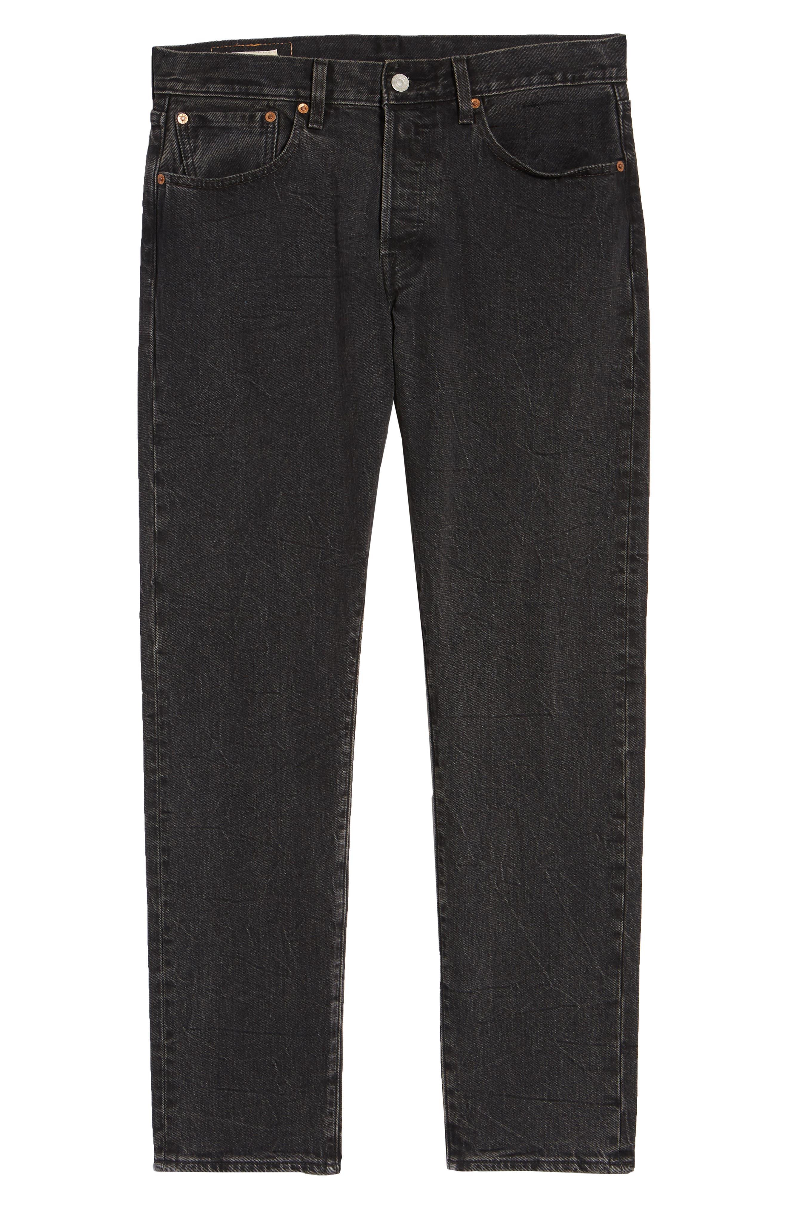 x Justin Timberlake 501<sup>®</sup> Slim Taper Jeans,                             Alternate thumbnail 7, color,                             WASHED BLACK