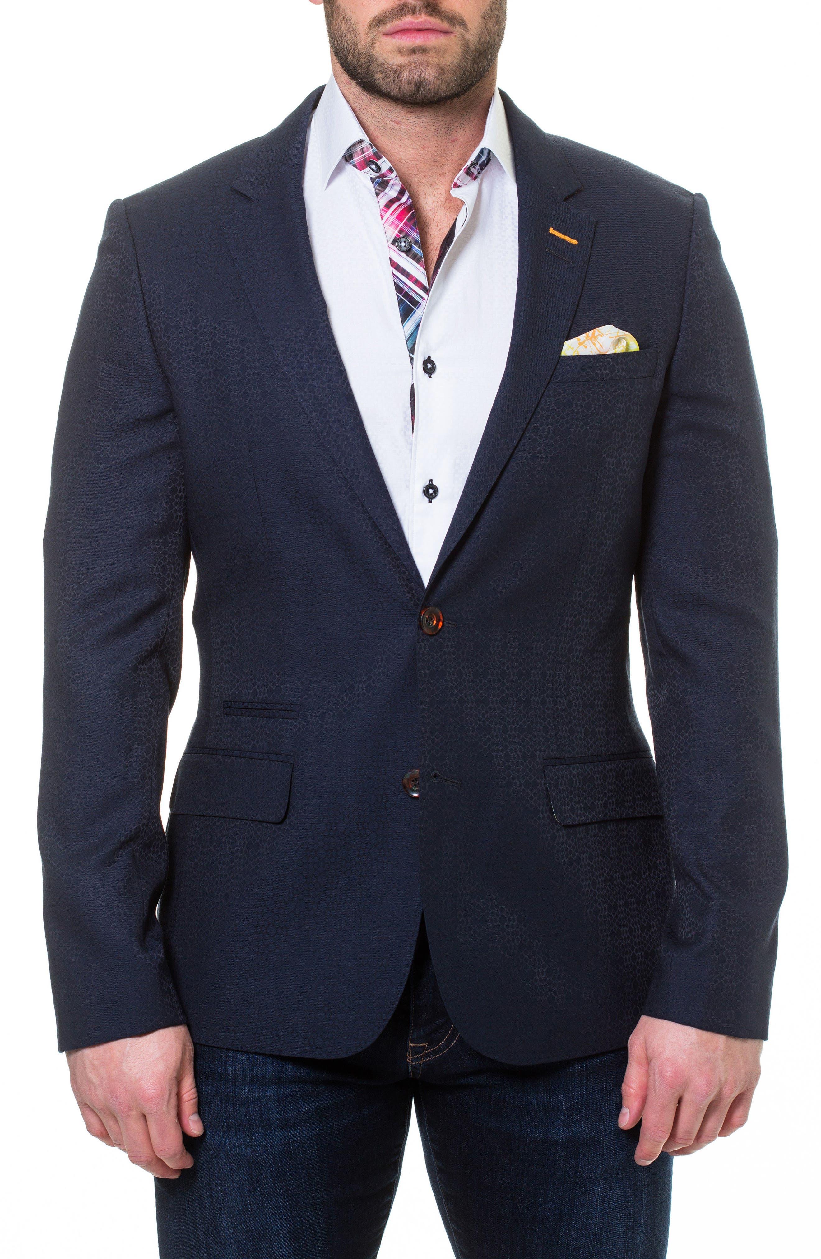 Socrate Scale Textured Sport Coat,                         Main,                         color, 420