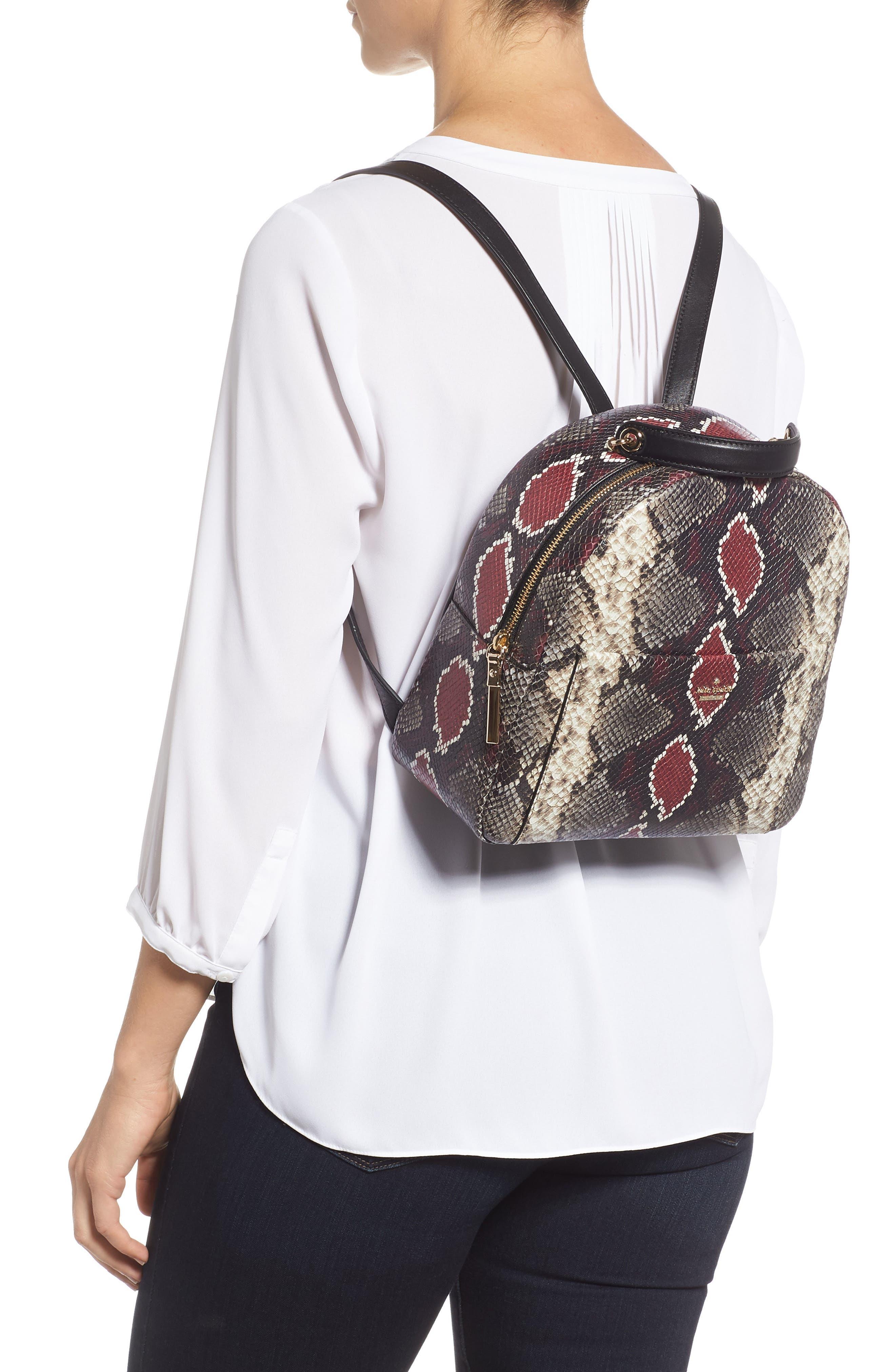 reese park - ethel snake embossed leather backpack,                             Alternate thumbnail 2, color,                             200