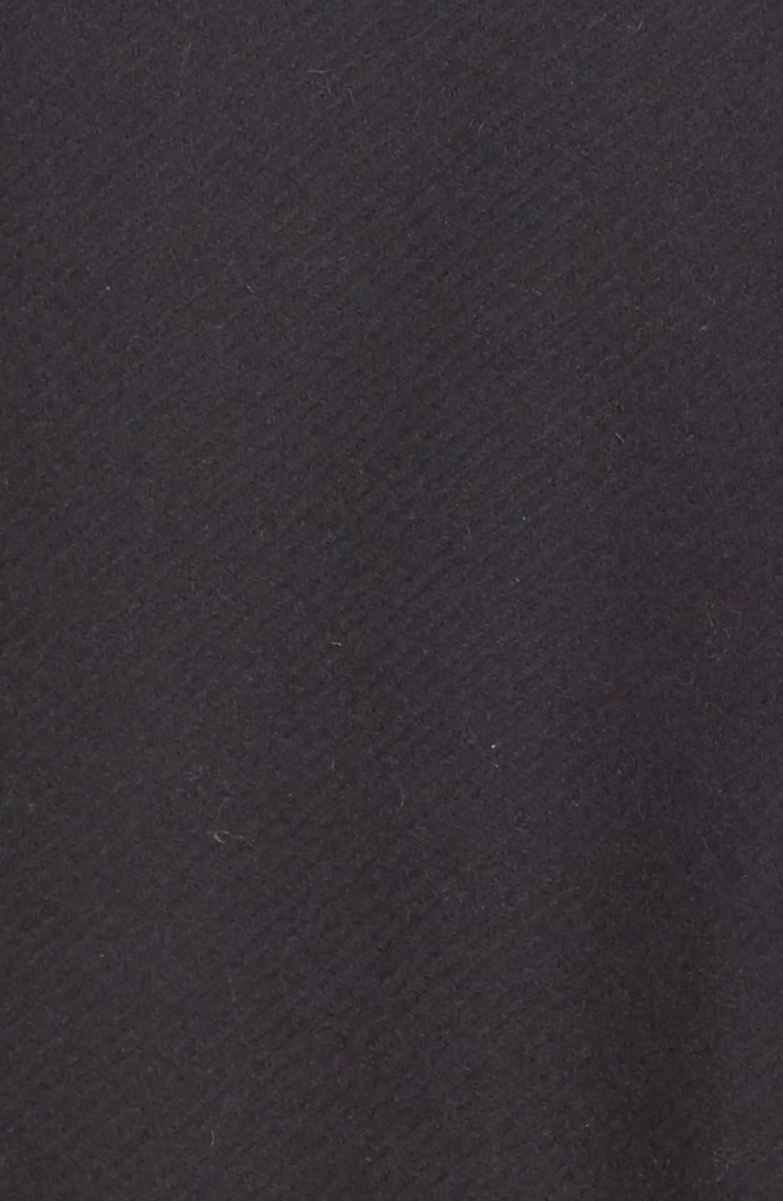 VINCE,                             Genuine Shearling Trim Wool Blend Moto Jacket,                             Alternate thumbnail 3, color,                             001