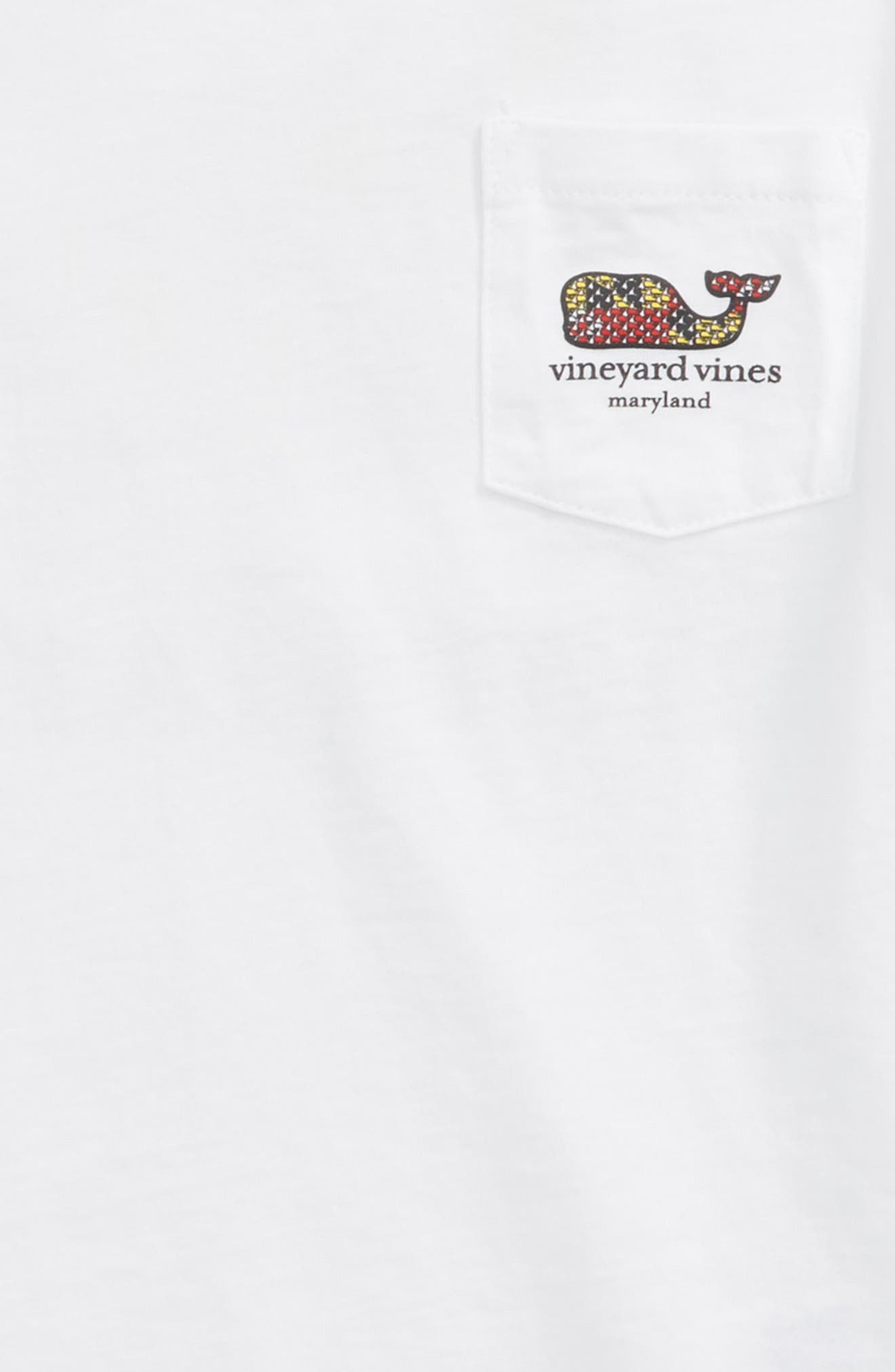 Maryland Crab Graphic Pocket T-Shirt,                             Alternate thumbnail 3, color,                             WHITE CAP