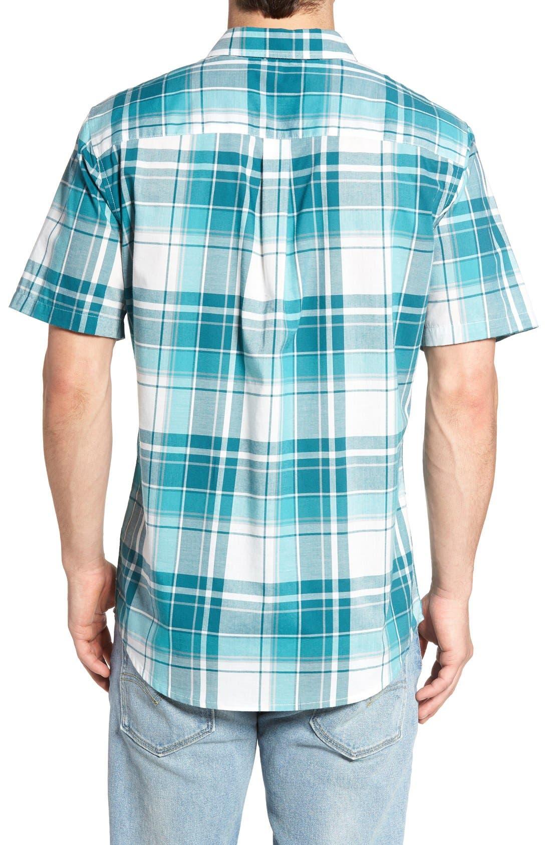 Plaid Woven Shirt,                             Alternate thumbnail 9, color,                             INK