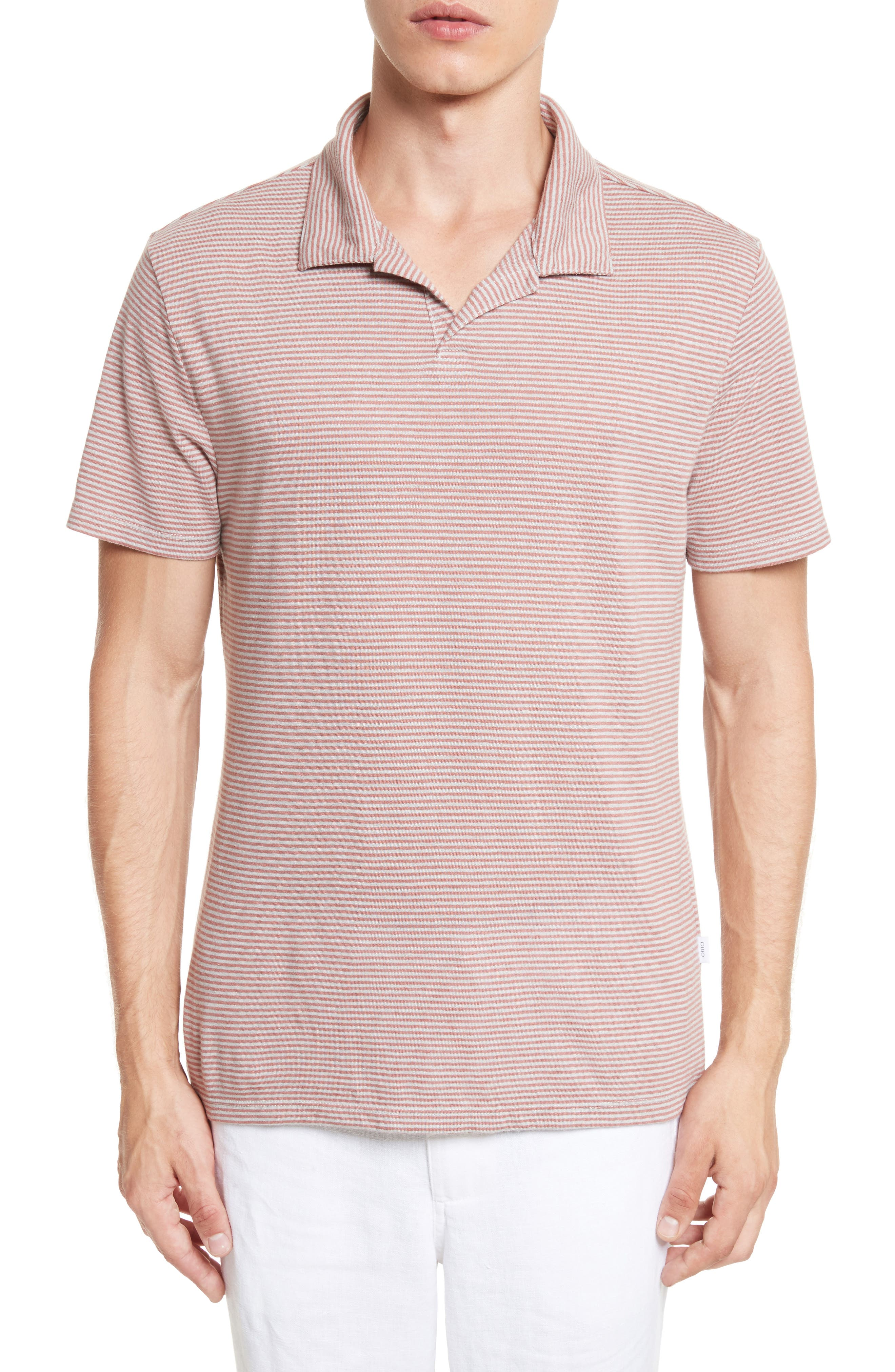 Shaun Linen Blend Polo,                             Main thumbnail 1, color,                             651