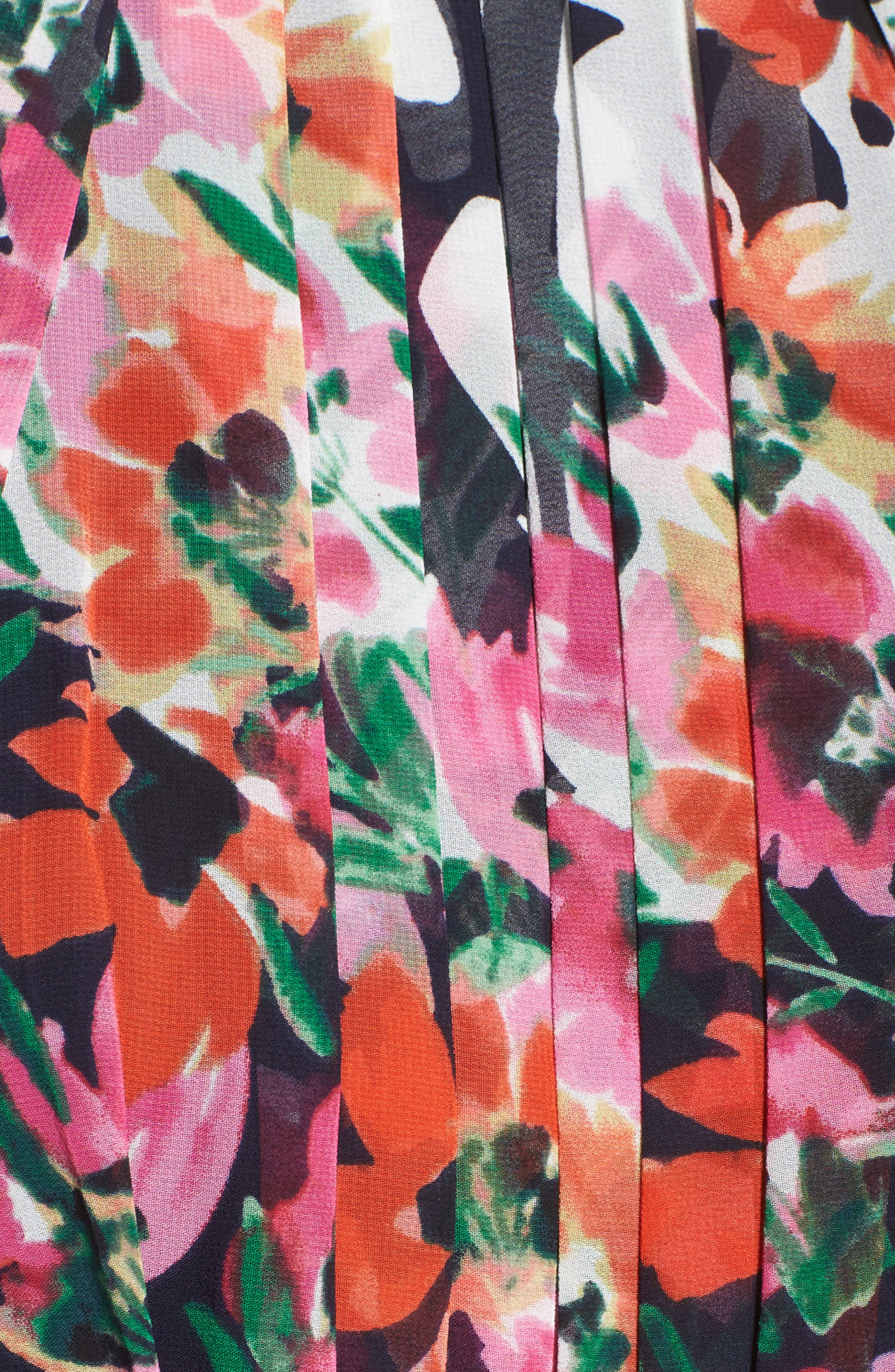 Print Chiffon Halter Maxi Dress,                             Alternate thumbnail 5, color,