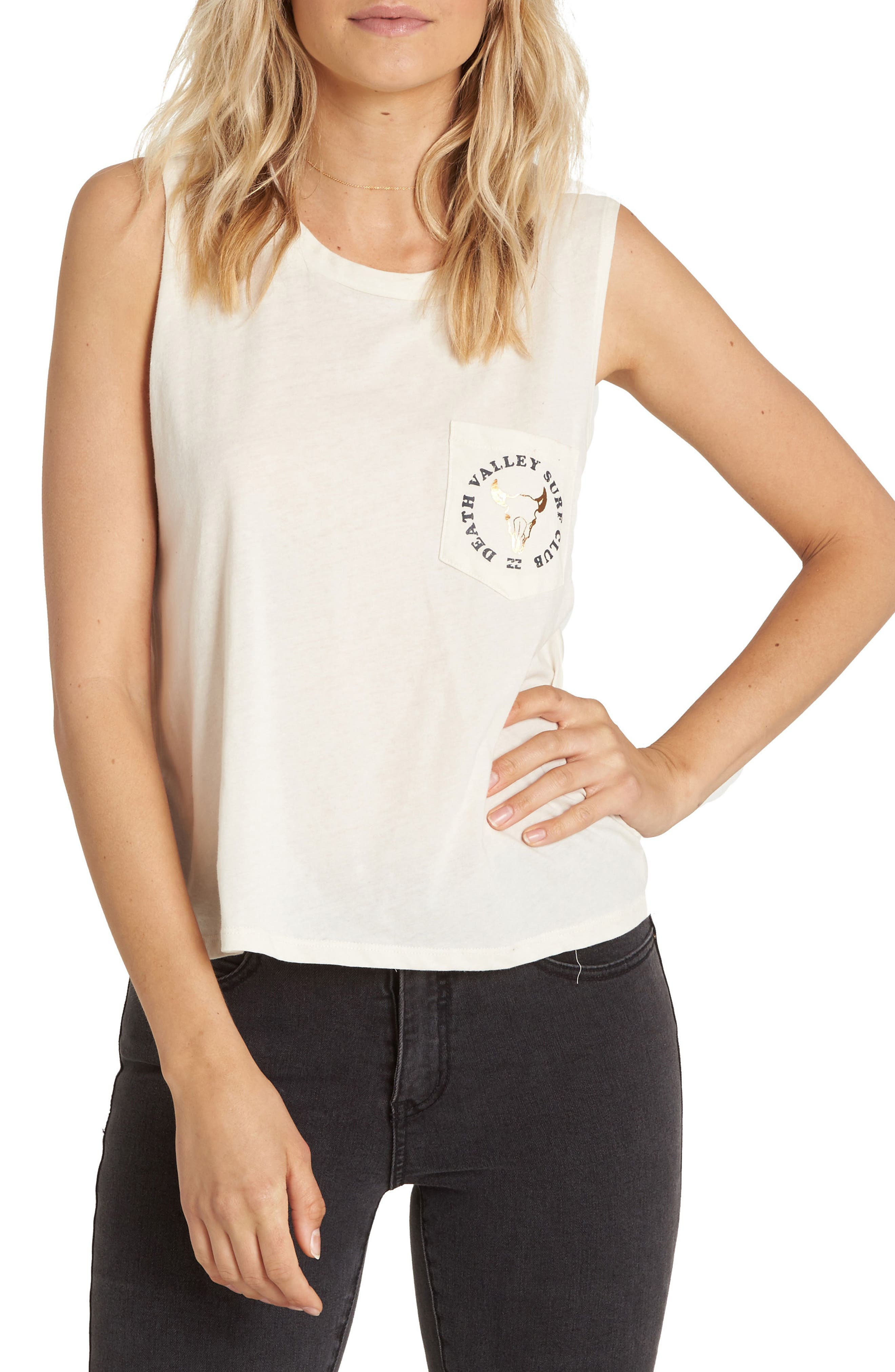 Salt Flats Graphic Muscle Tee,                         Main,                         color, 100