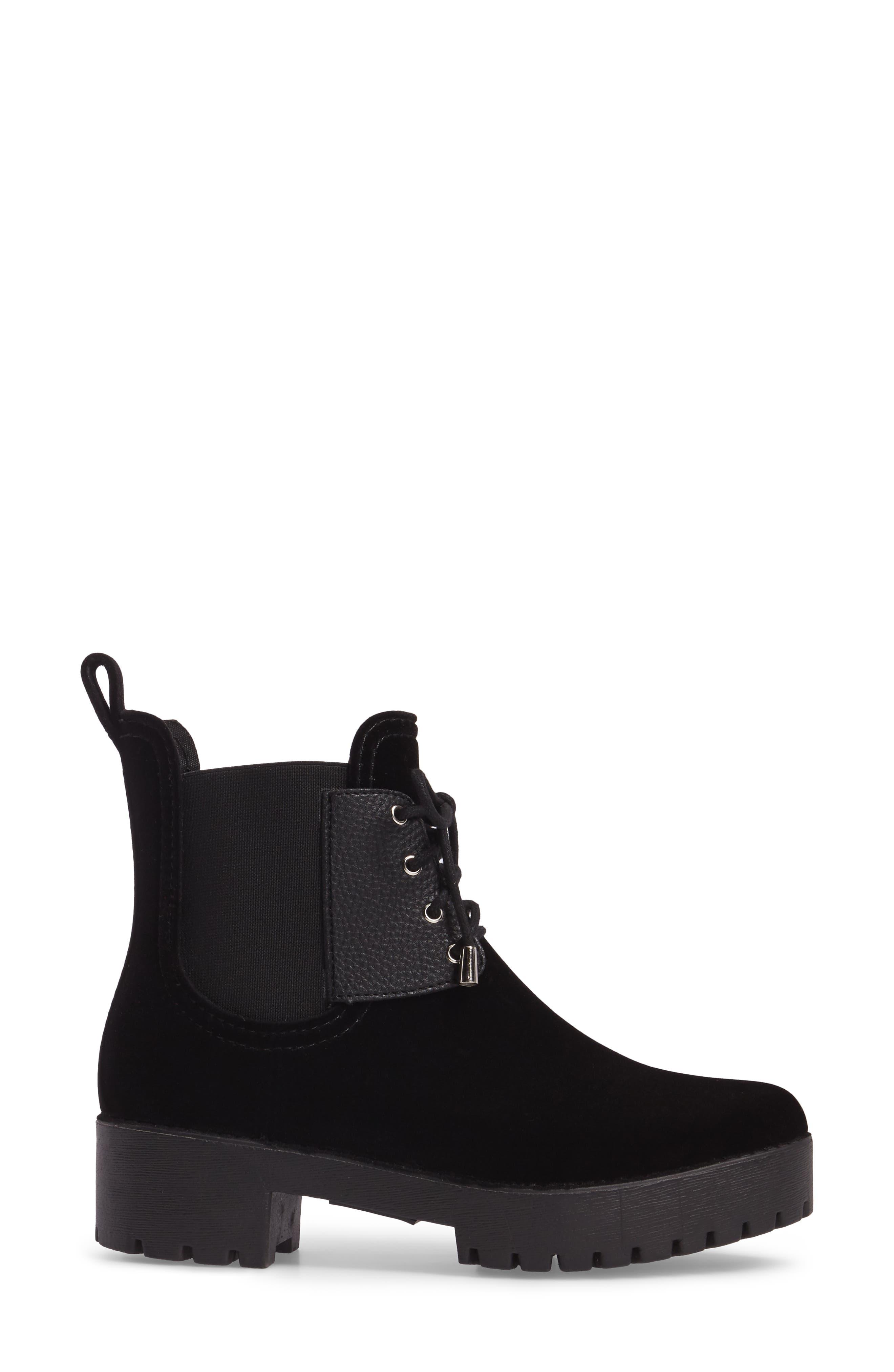 Leeds Lace-Up Waterproof Boot,                             Alternate thumbnail 3, color,                             BLACK