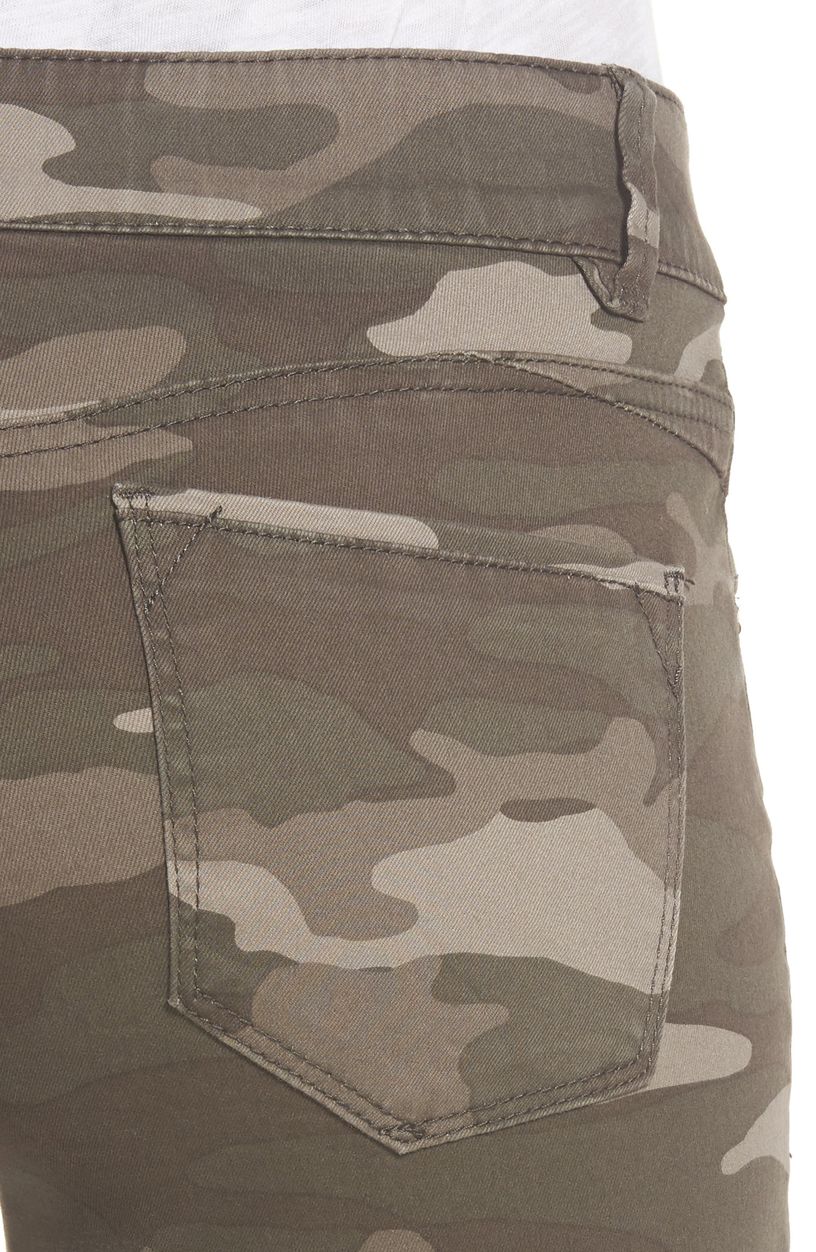 Ab-solution Camo Stretch Ankle Skinny Jeans,                             Alternate thumbnail 4, color,                             201