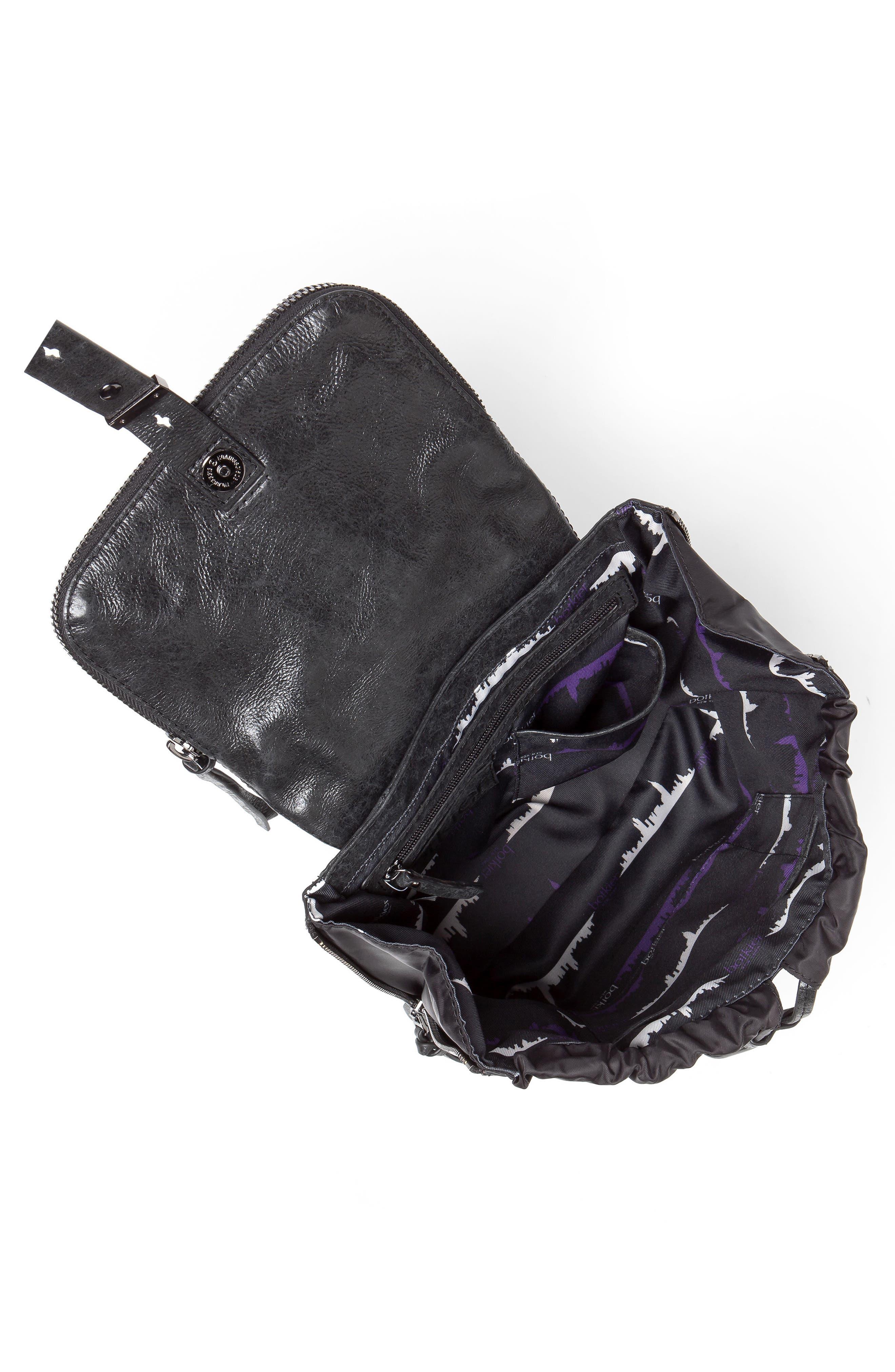 Warren Leather Backpack,                             Alternate thumbnail 2, color,                             001