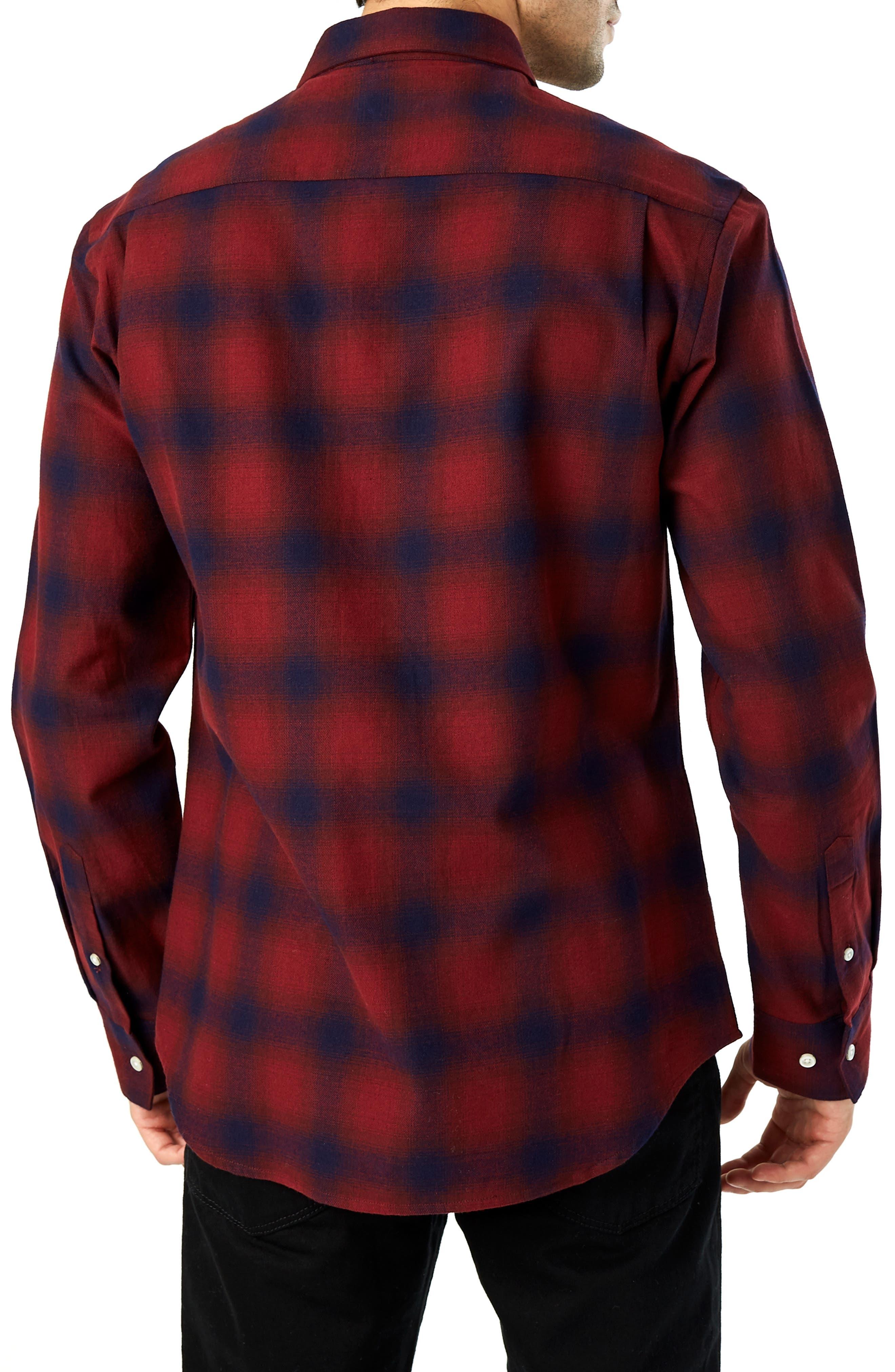 Flint Trim Fit Sport Shirt,                             Alternate thumbnail 3, color,                             930