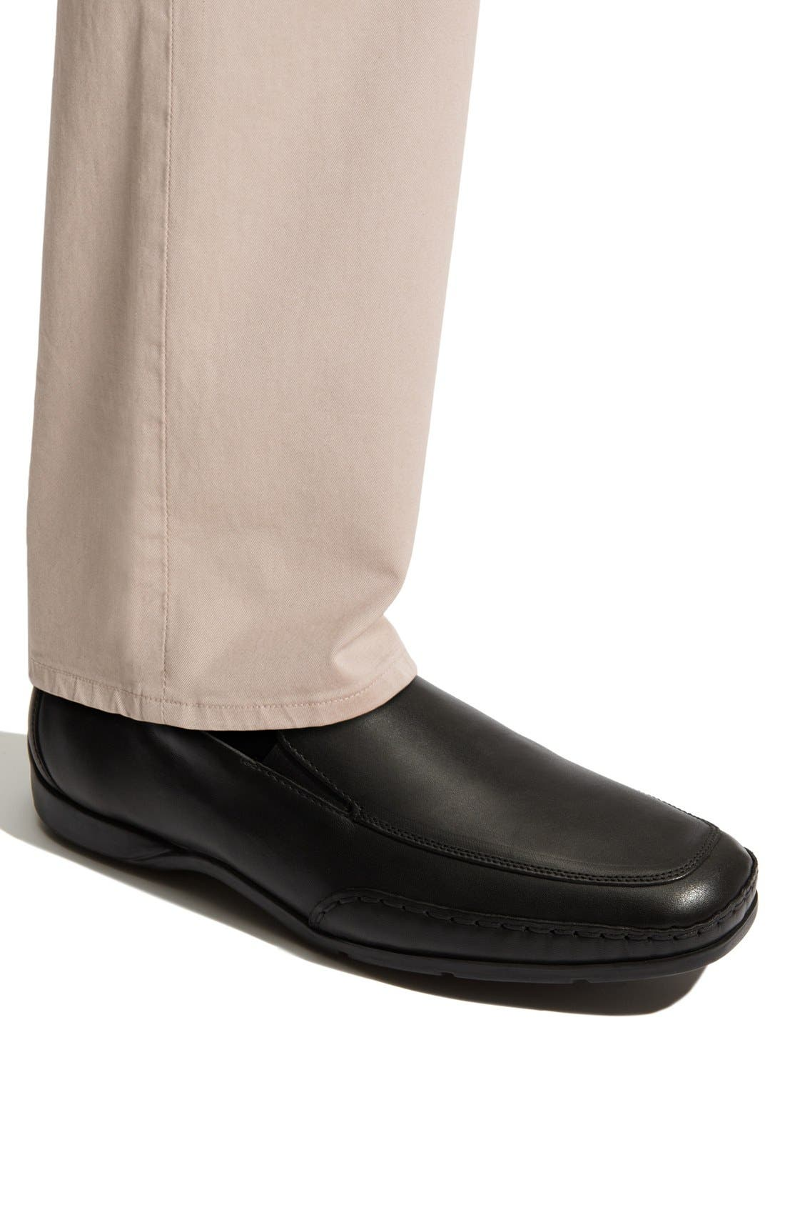 'Edlef' Slip-On,                             Alternate thumbnail 10, color,                             BLACK SMOOTH LEATHER