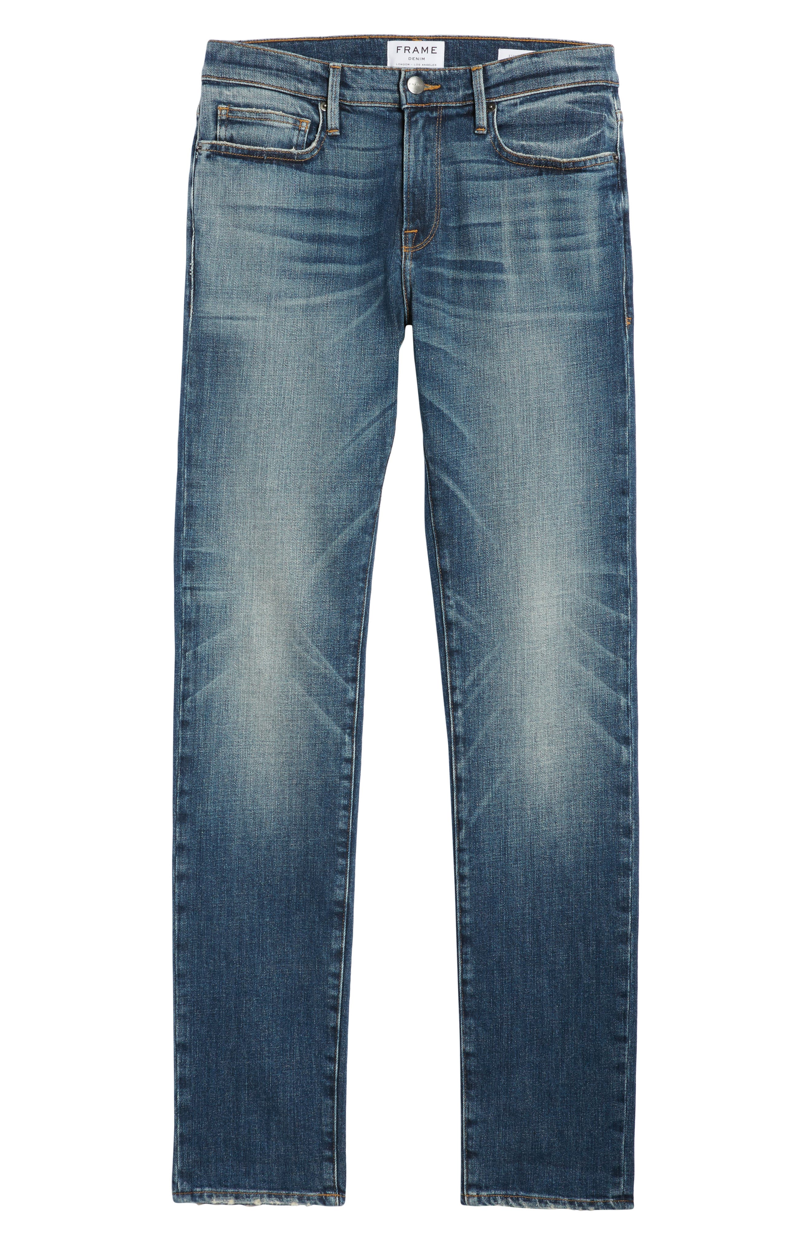 L'Homme Skinny Fit Jeans,                             Alternate thumbnail 6, color,                             405