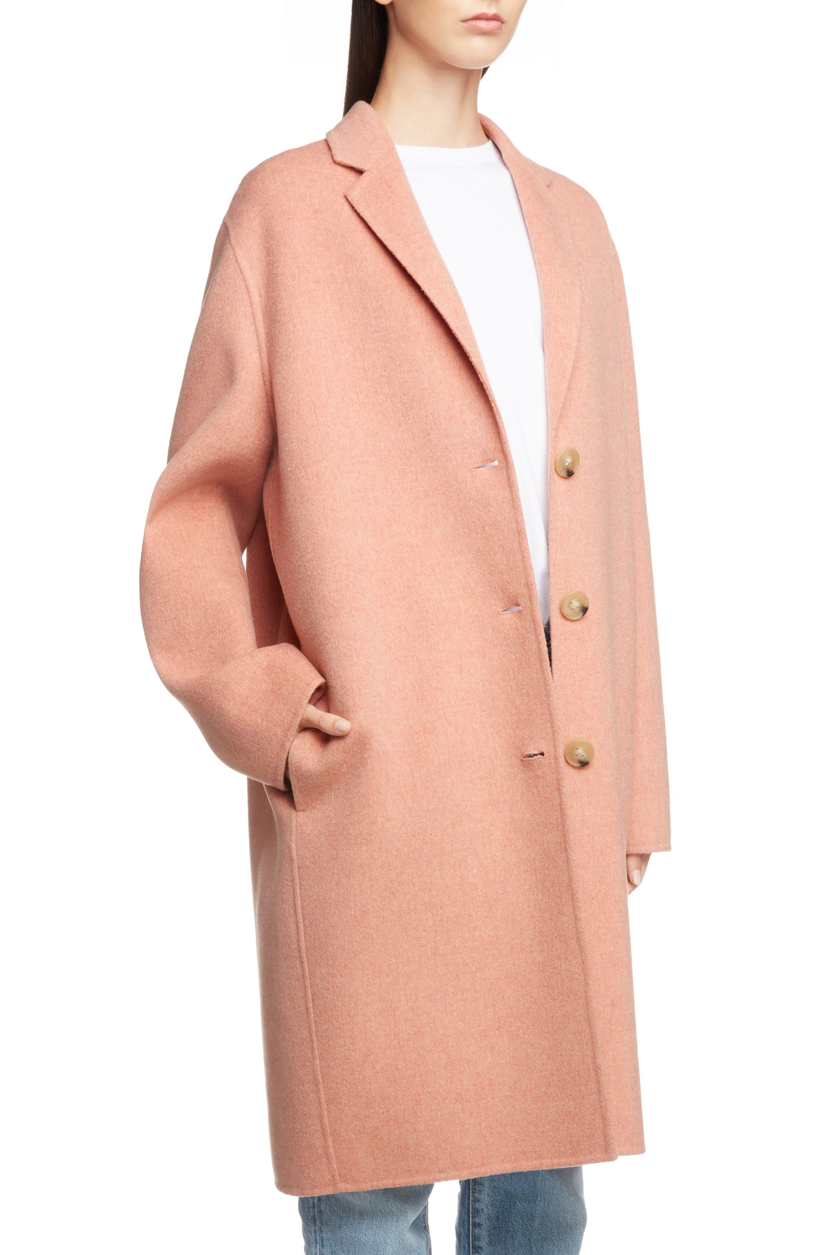 Double Wool & Cashmere Coat,                             Alternate thumbnail 4, color,                             650