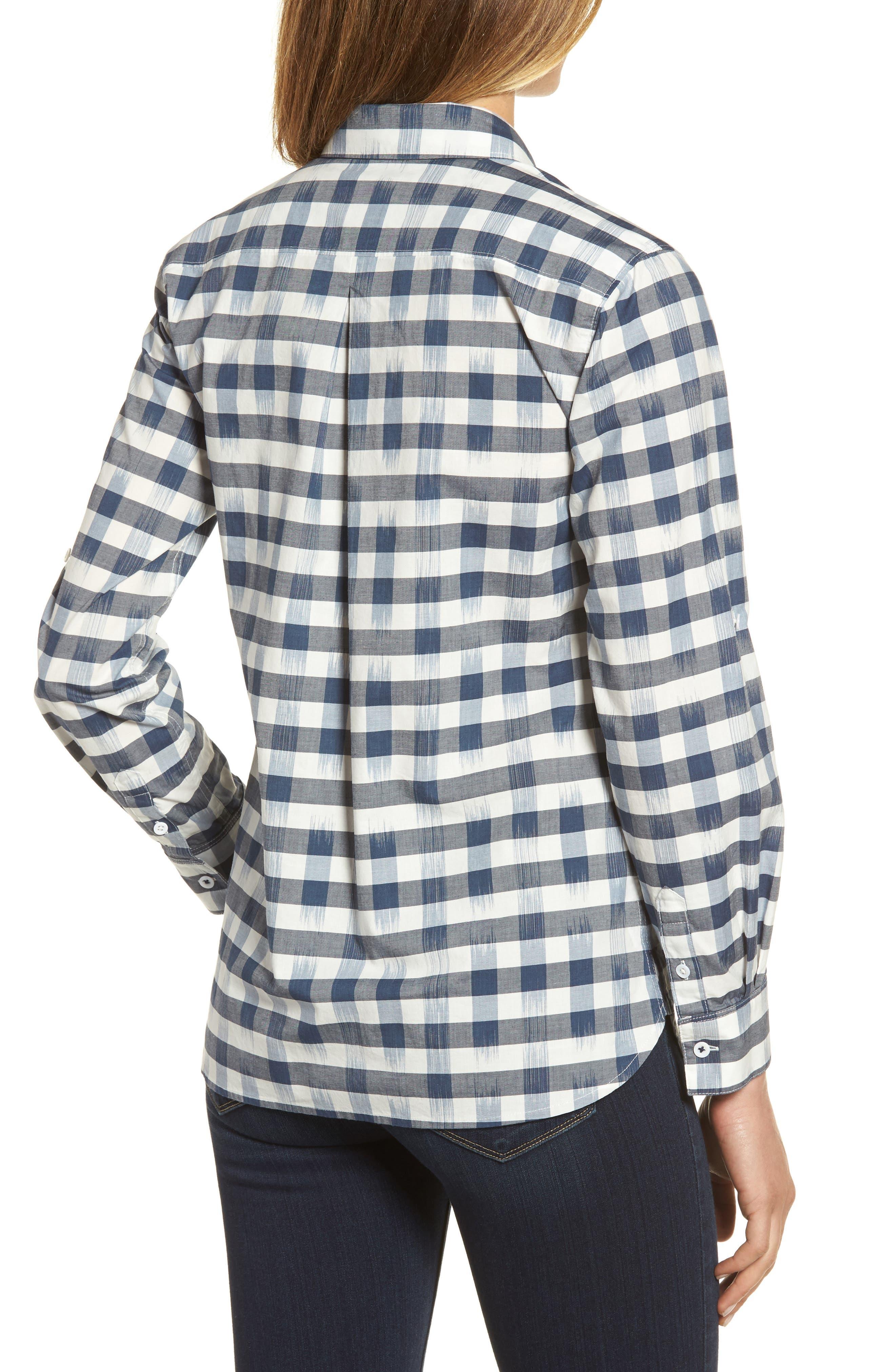 Fragmented Gingham Shirt,                             Alternate thumbnail 2, color,                             400