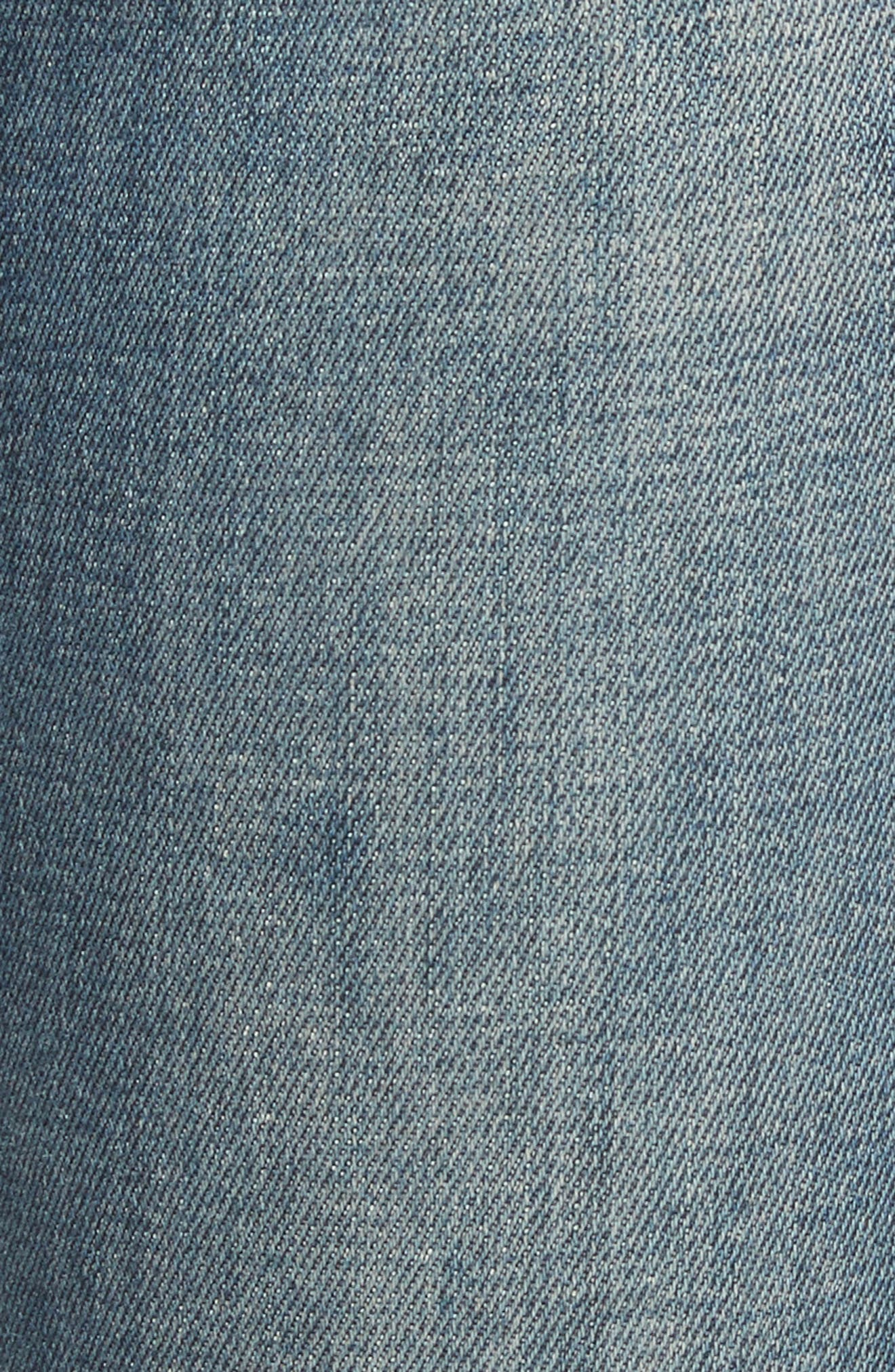 Le Skinny de Jeanne Raw Edge Skinny Jeans,                             Alternate thumbnail 5, color,                             401