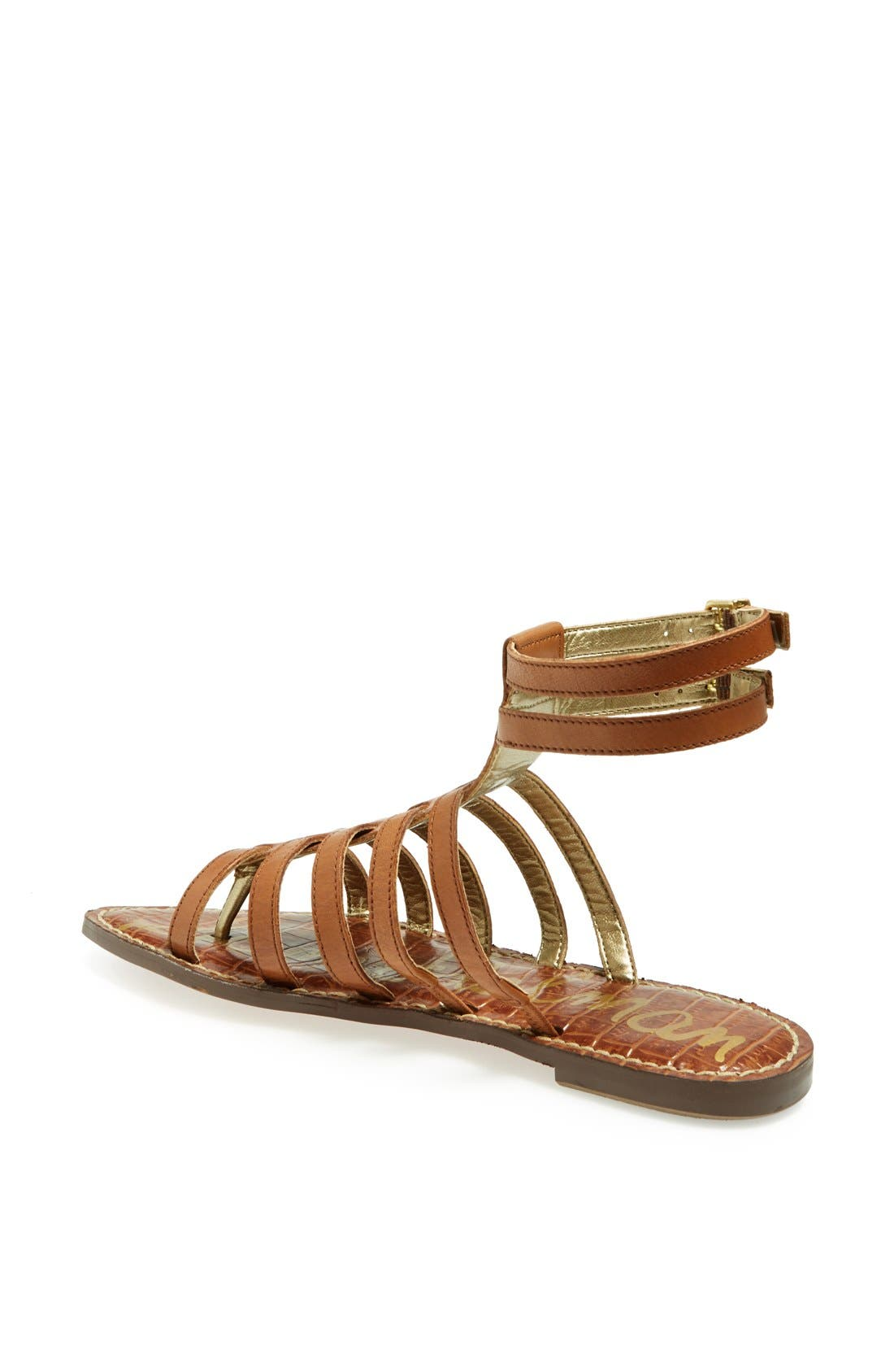 'Gilda' Sandal,                             Alternate thumbnail 3, color,                             SADDLE LEATHER