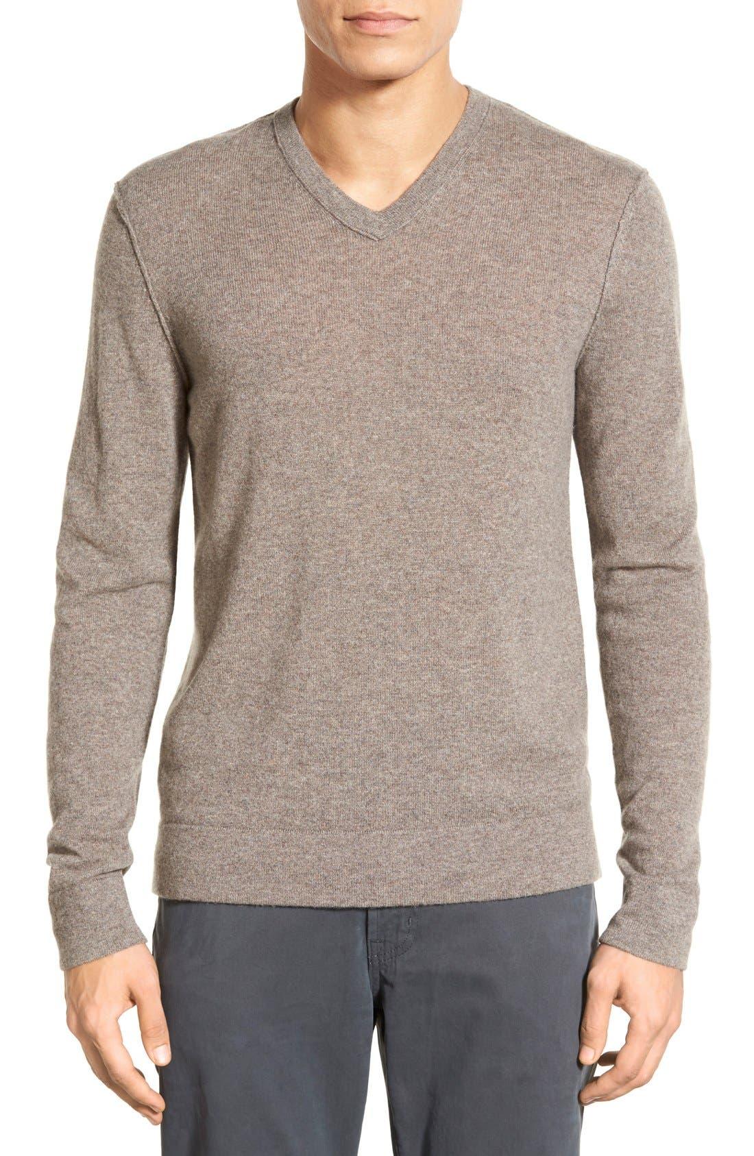 Cashmere V-Neck Sweater,                             Main thumbnail 2, color,