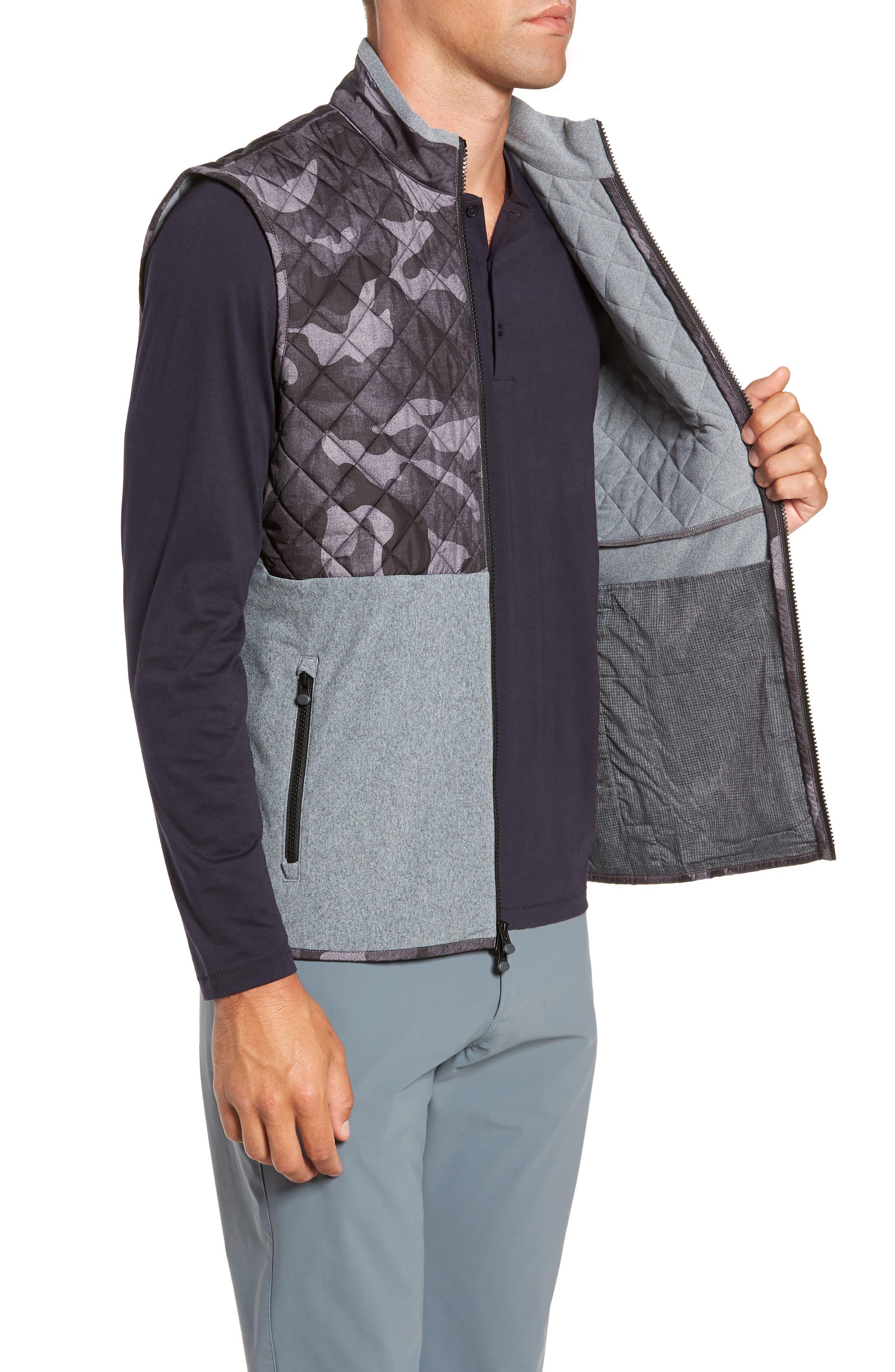 Huron Hybrid Vest,                             Alternate thumbnail 3, color,                             GREY HEATHER/ GREY CAMO