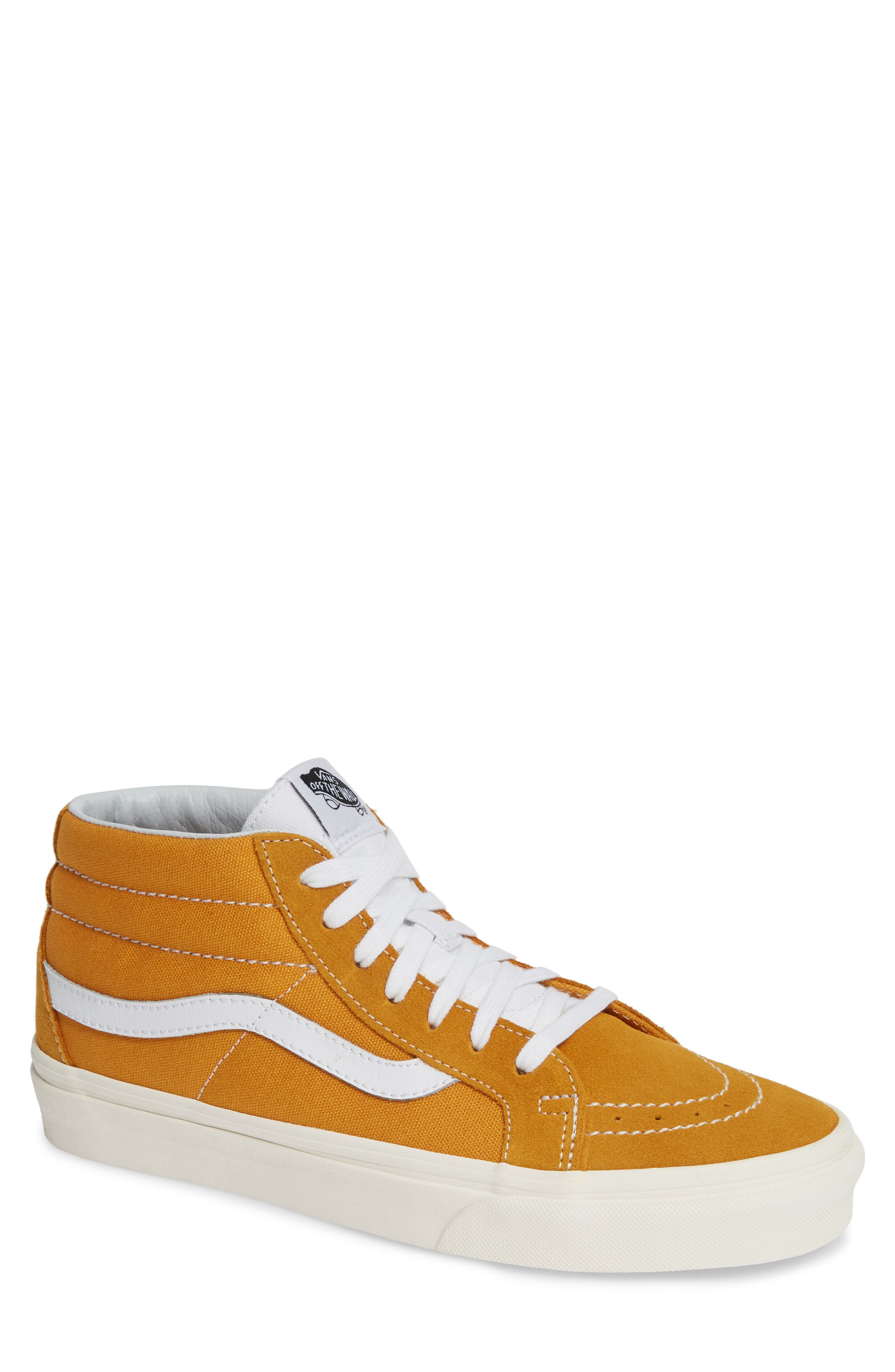 Sk8-Mid Reissue Sneaker,                         Main,                         color, SUNFLOWER CANVAS/SUEDE