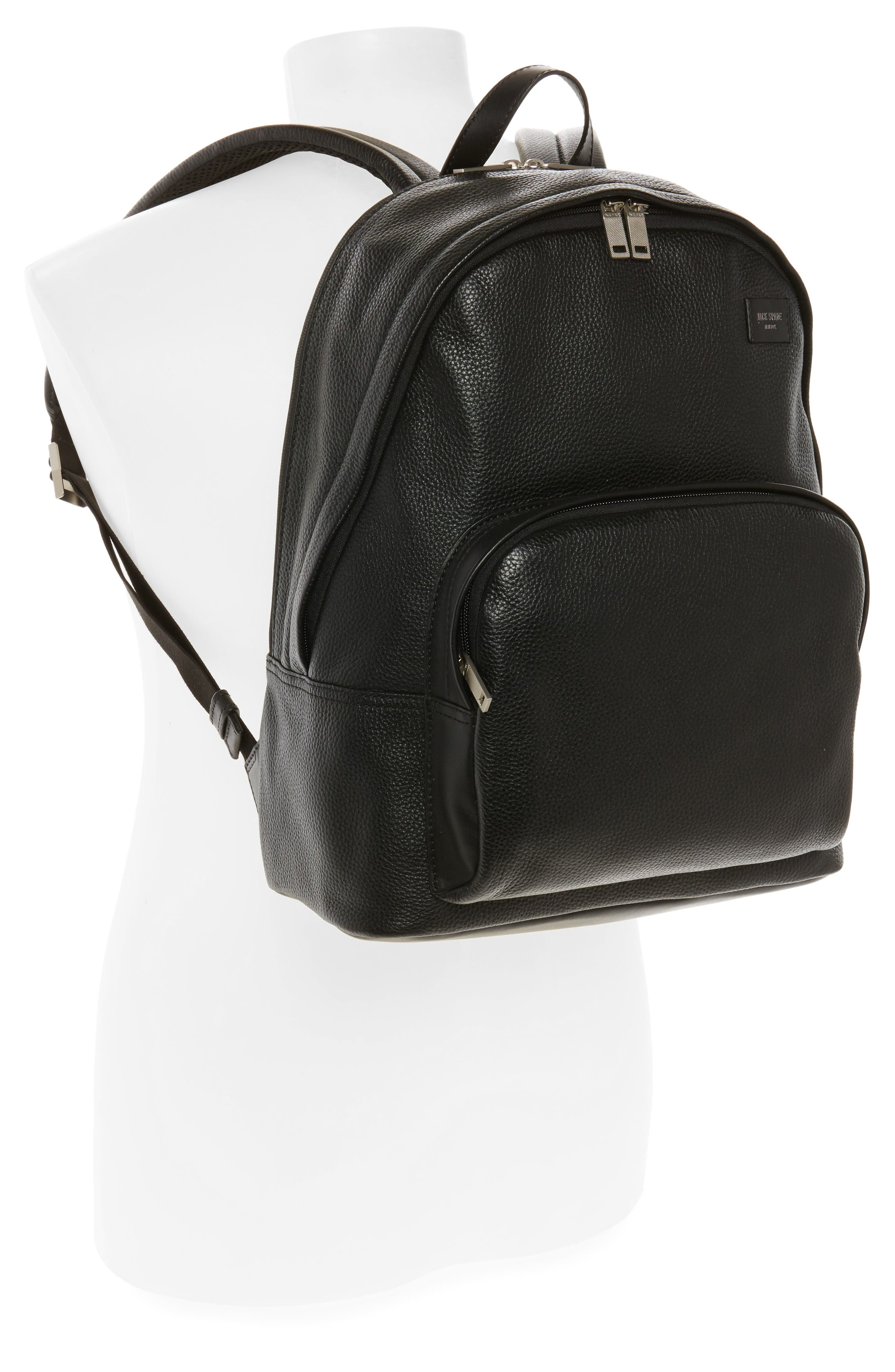 Pebbled Leather Backpack,                             Alternate thumbnail 2, color,                             001