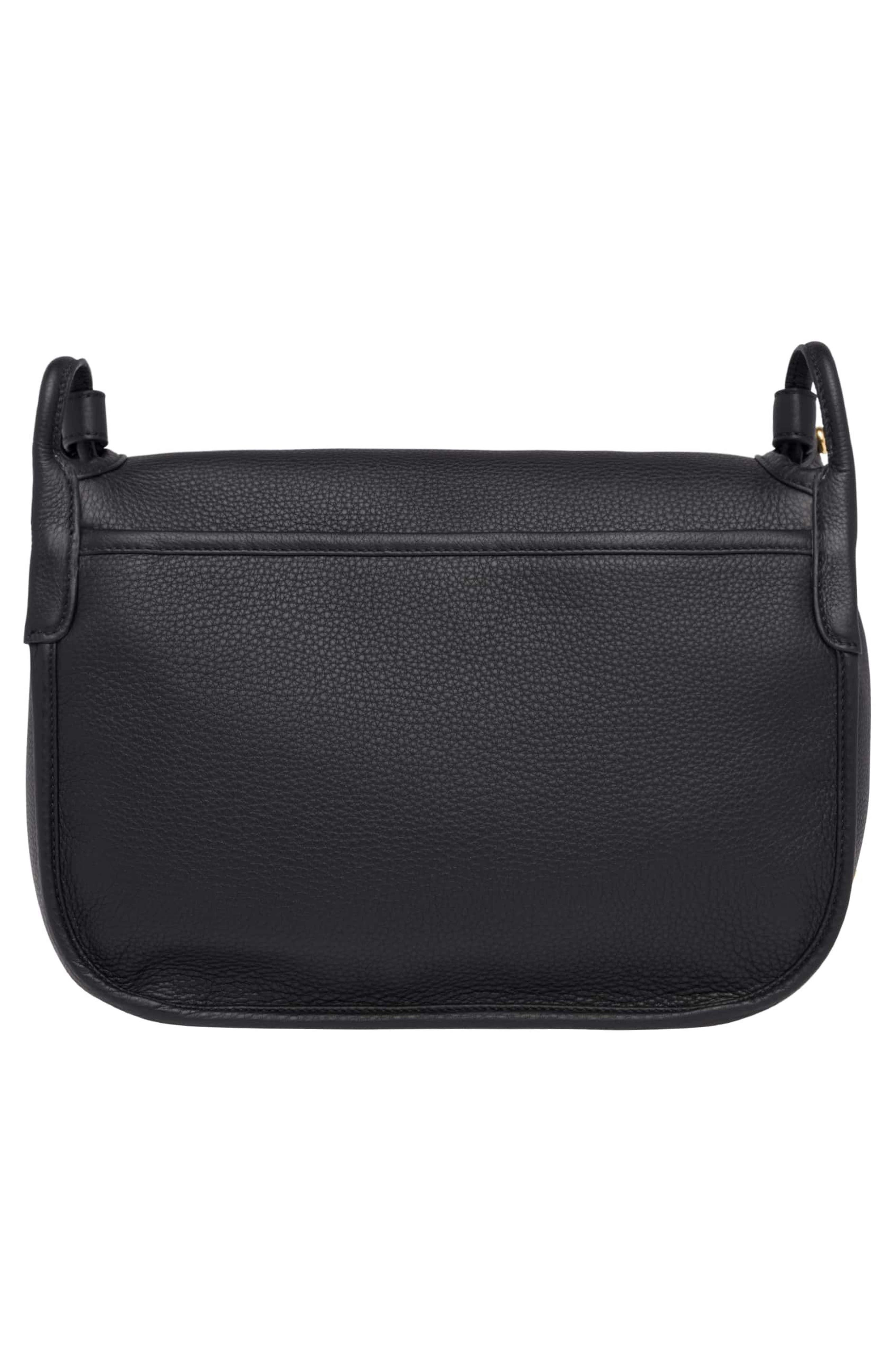 Vitello Daino Heritage Logo Leather Crossbody Bag,                             Alternate thumbnail 5, color,                             001