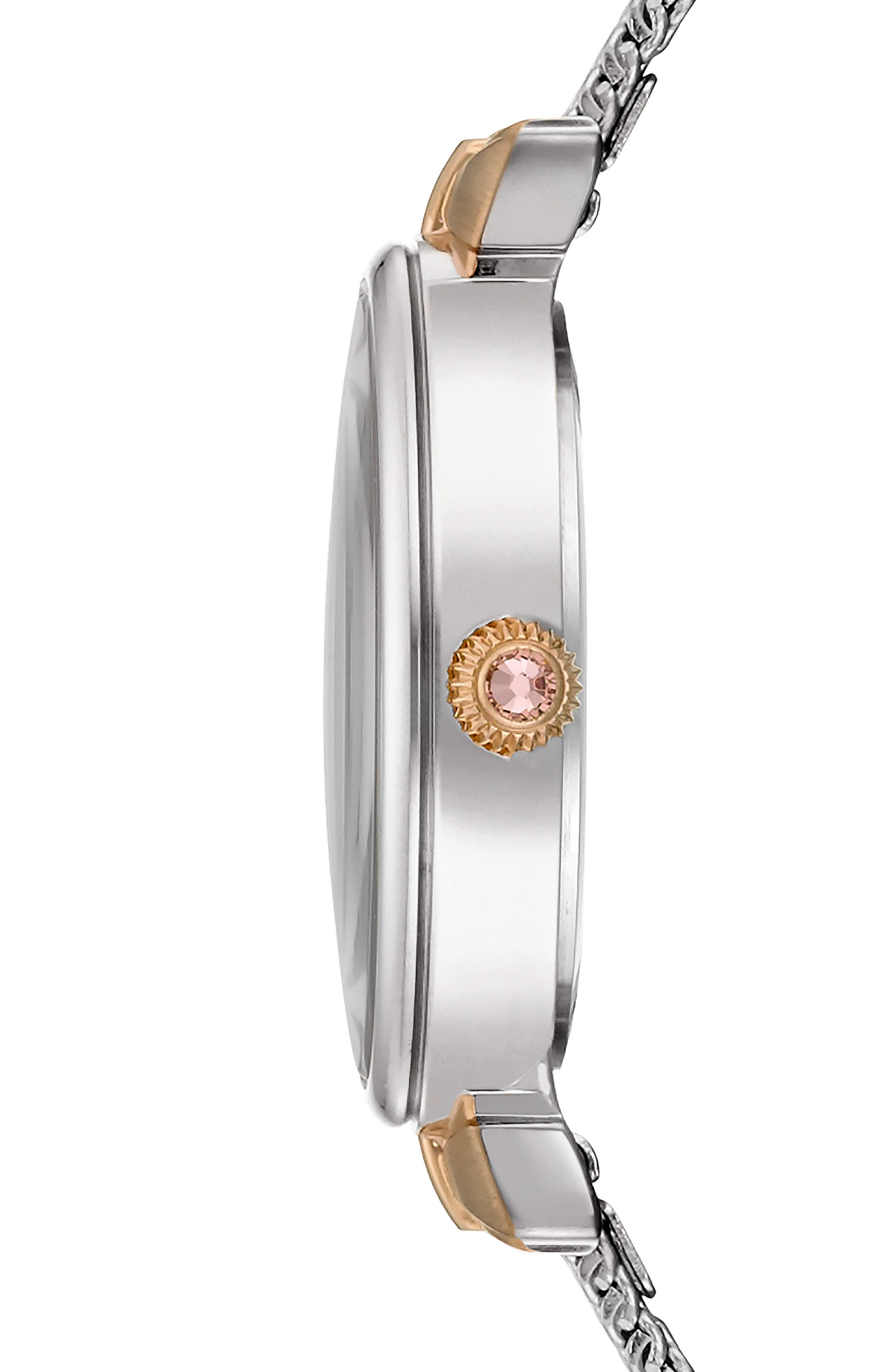 Jessica Mesh Strap Watch, 30mm,                             Alternate thumbnail 3, color,                             040