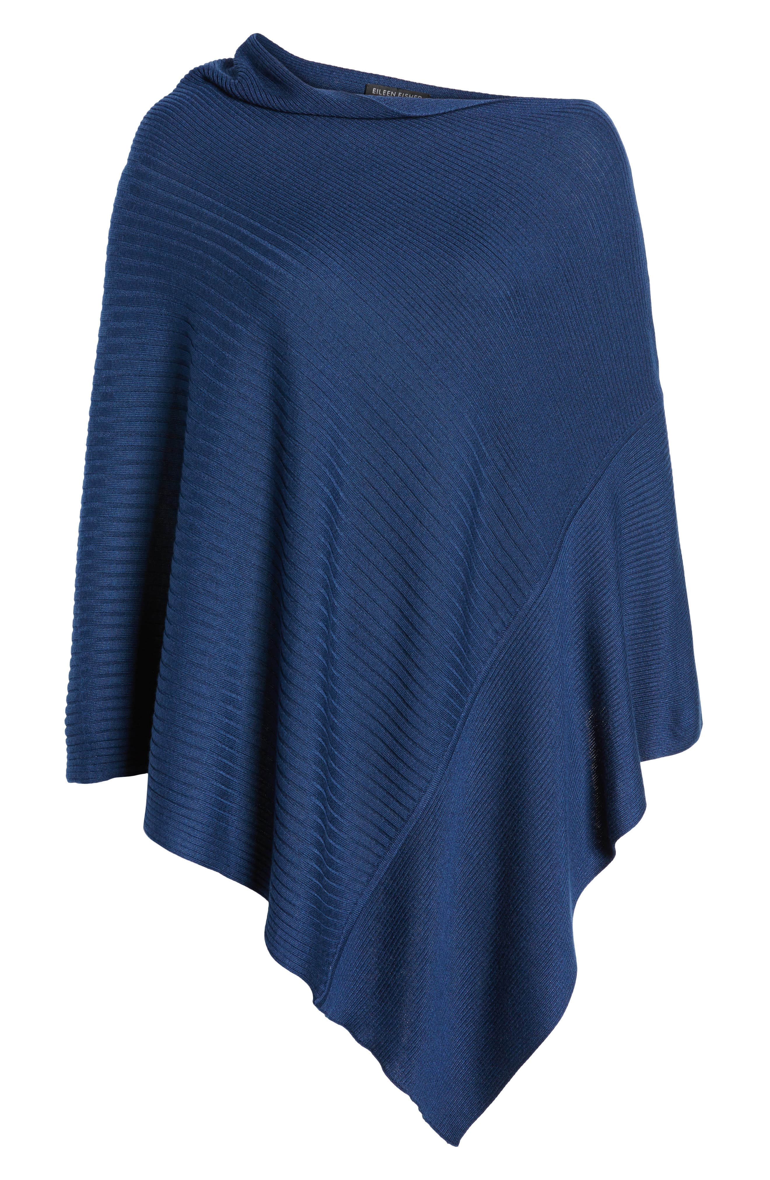 Bateau Neck Sweater Poncho,                             Alternate thumbnail 17, color,