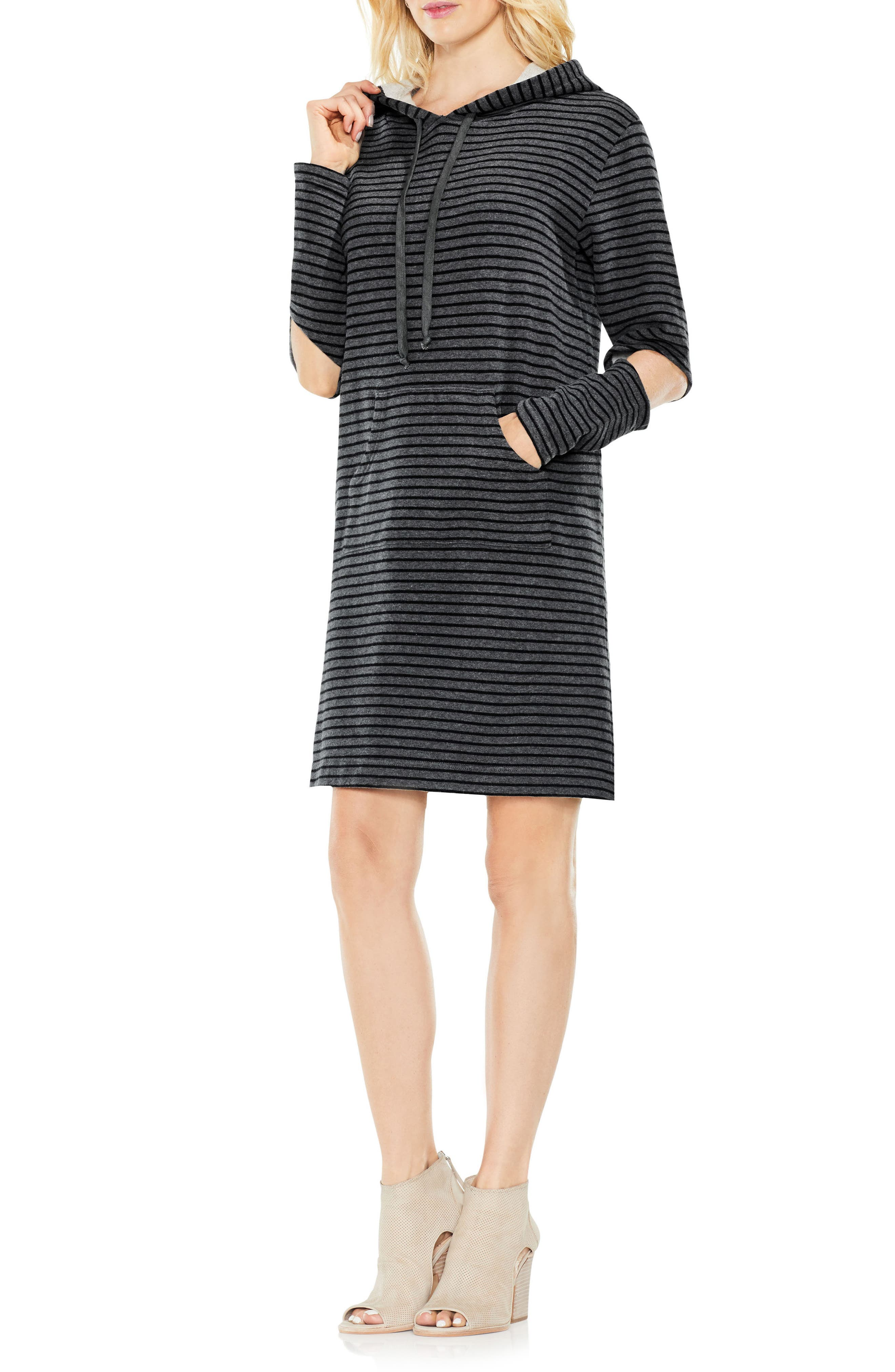 Daydream Stripe Hooded Dress,                             Alternate thumbnail 5, color,