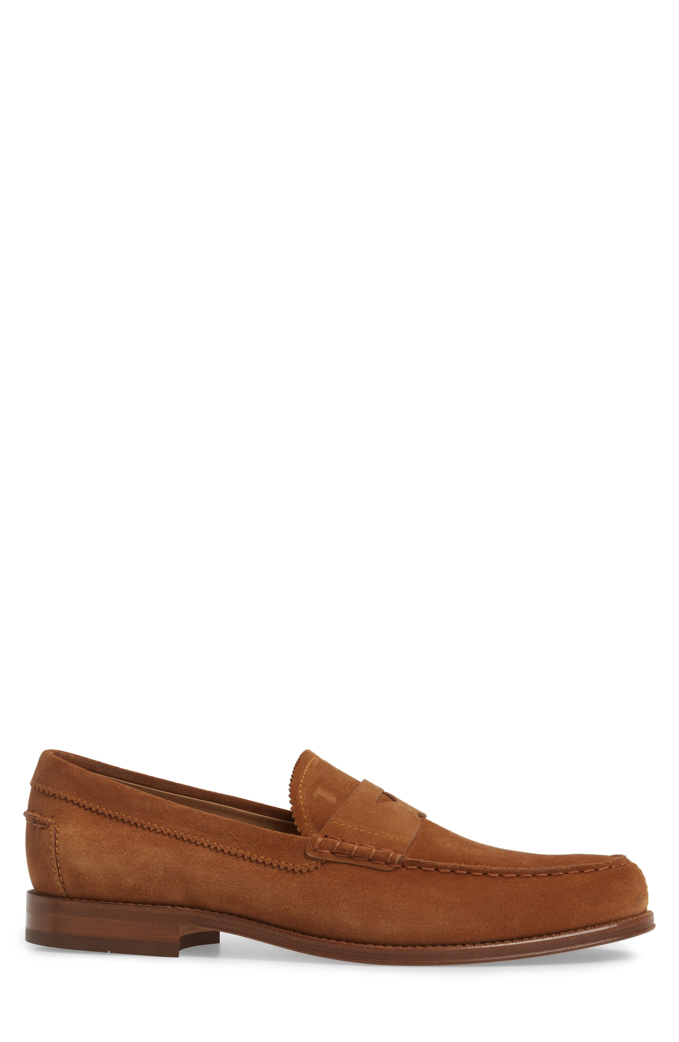 Suede Penny Loafer,                             Alternate thumbnail 5, color,