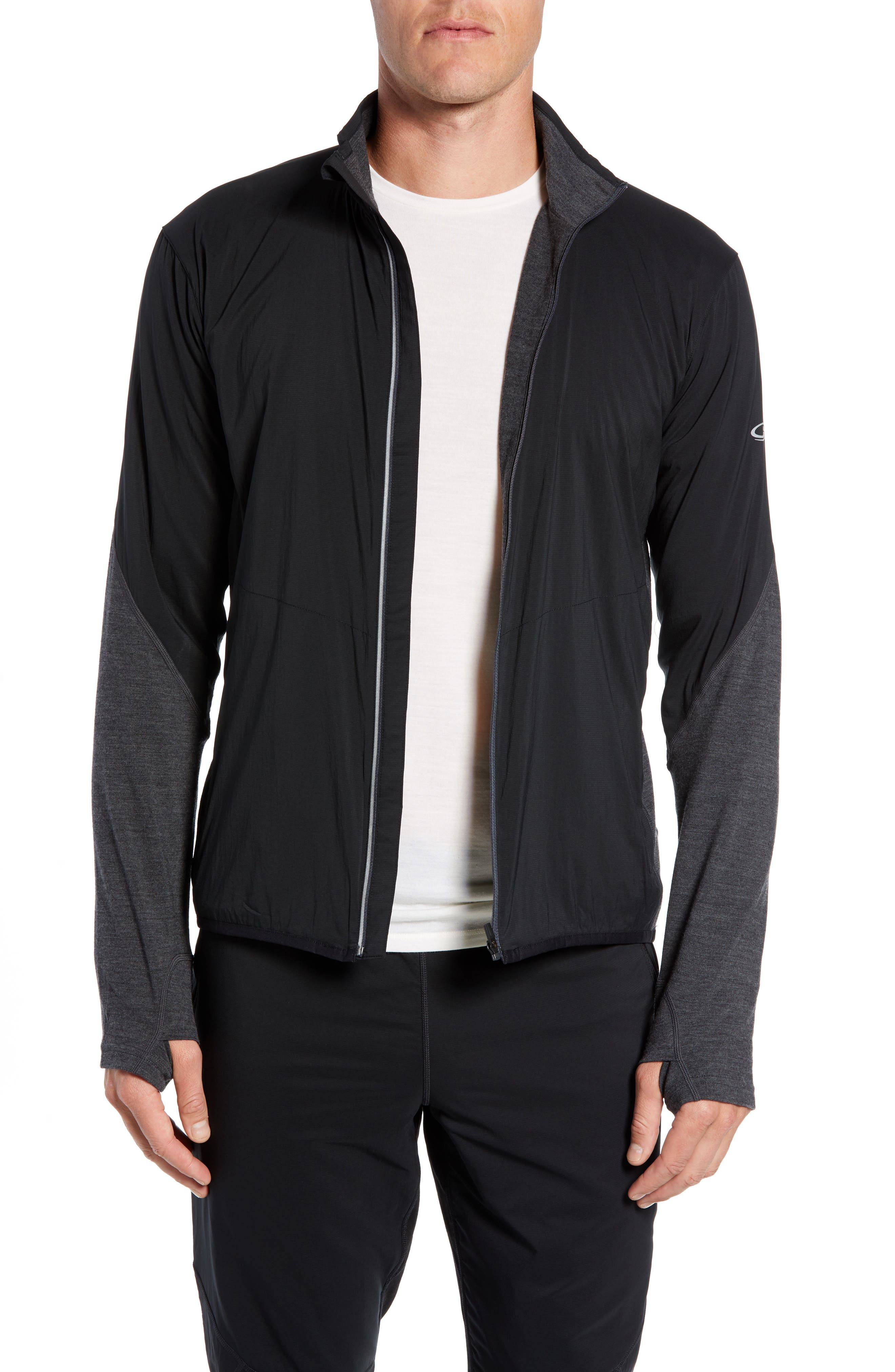 Tech Trainer Hybrid Jacket,                             Main thumbnail 1, color,                             BLACK