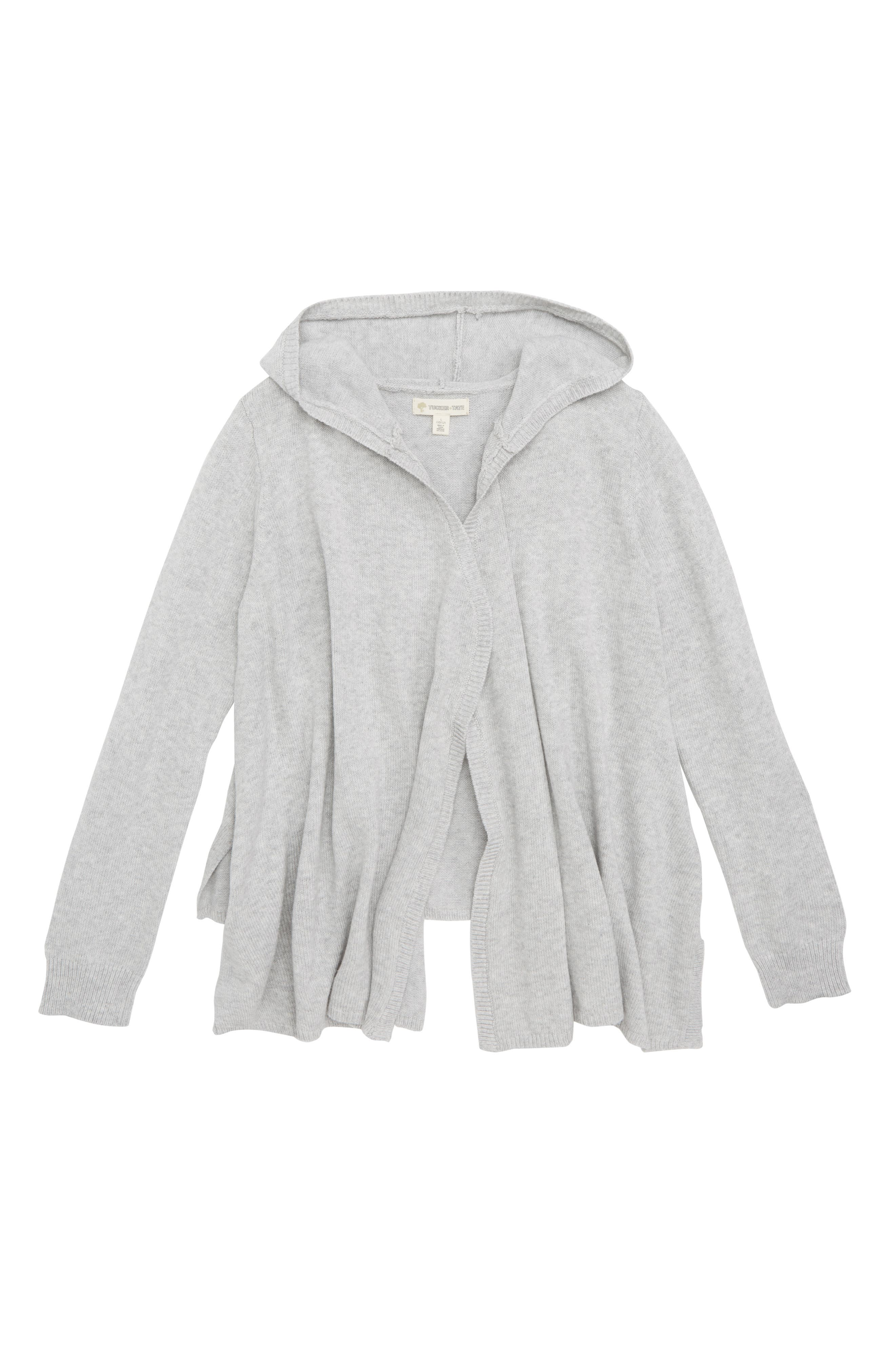 Hooded Cardigan,                         Main,                         color, GREY ASH HEATHER