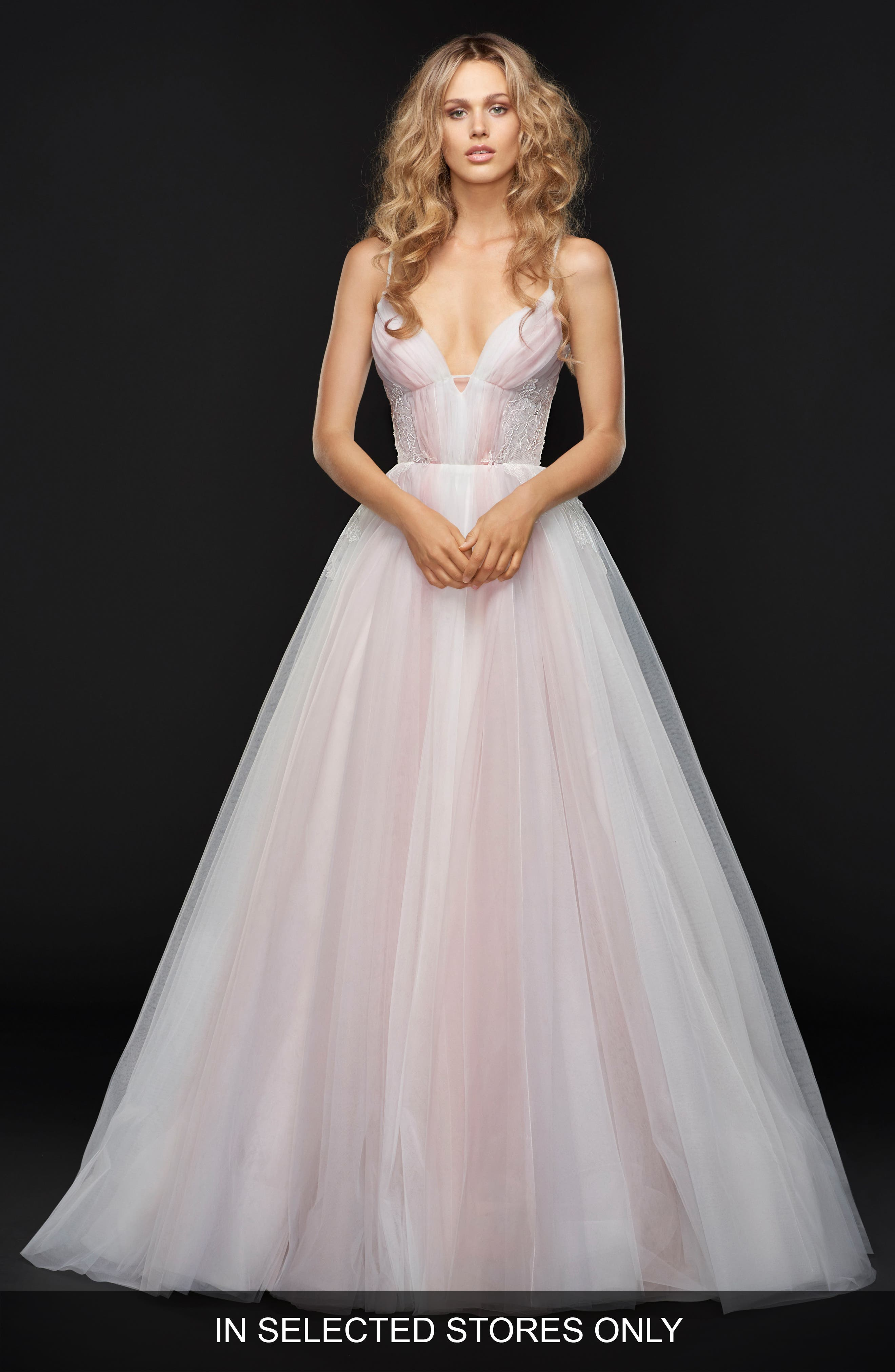 Hawthorne Sleeveless Tulle Ballgown,                             Main thumbnail 1, color,                             ALABASTER