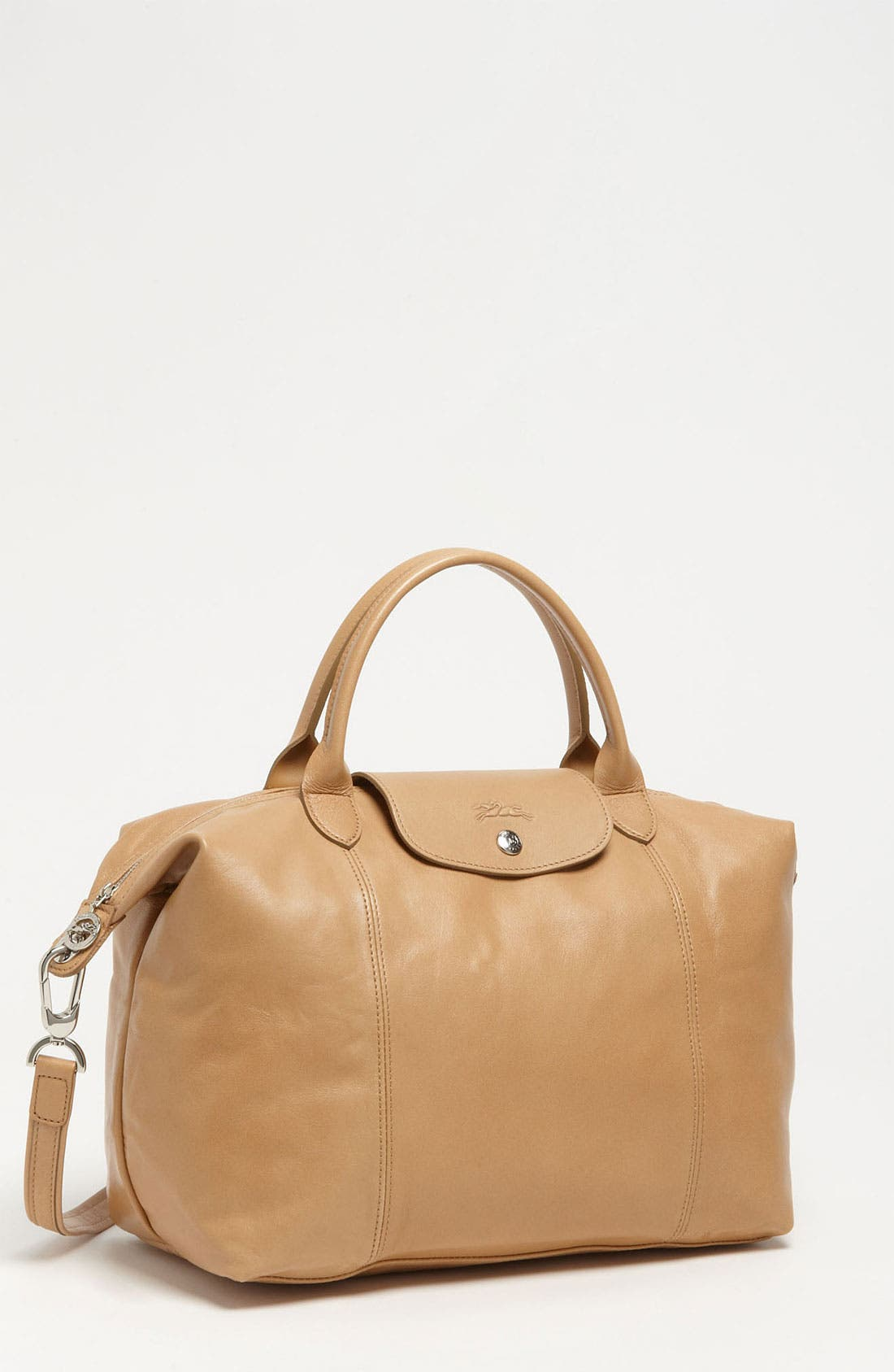 Medium 'Le Pliage Cuir' Leather Top Handle Tote,                             Main thumbnail 9, color,