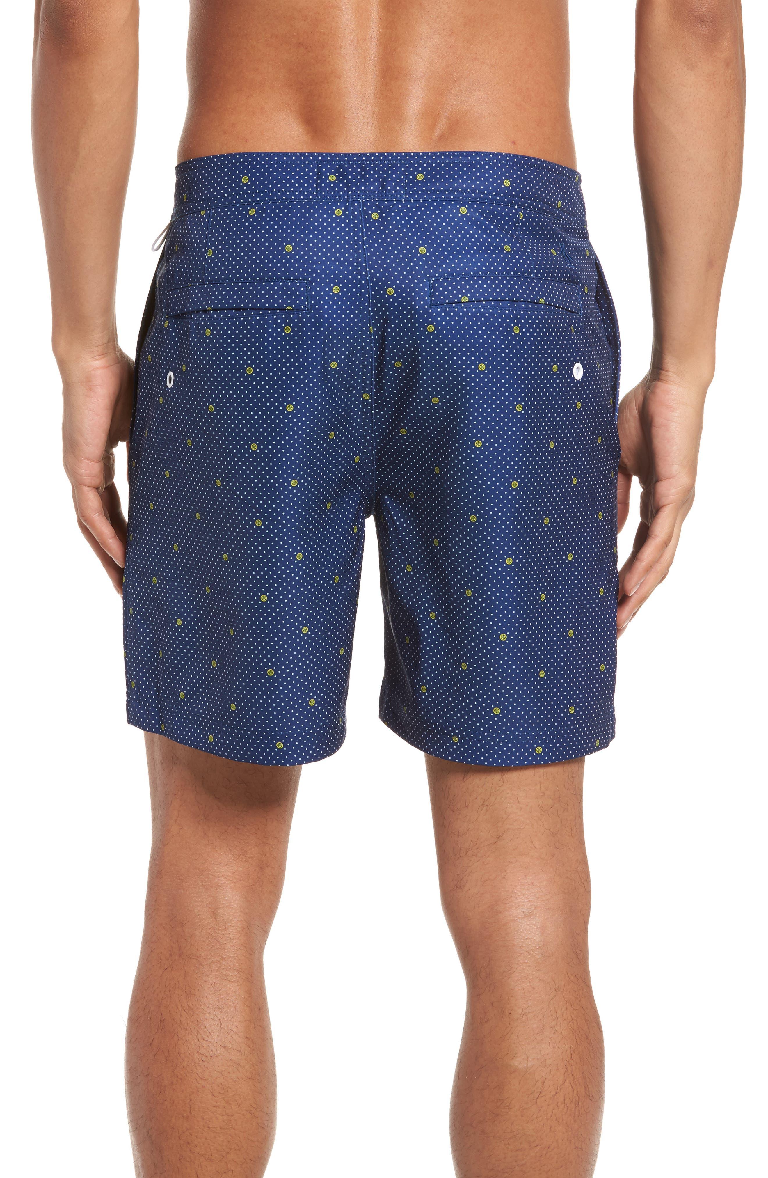 Polka Dot Lemon Volley Board Shorts,                             Alternate thumbnail 2, color,                             469