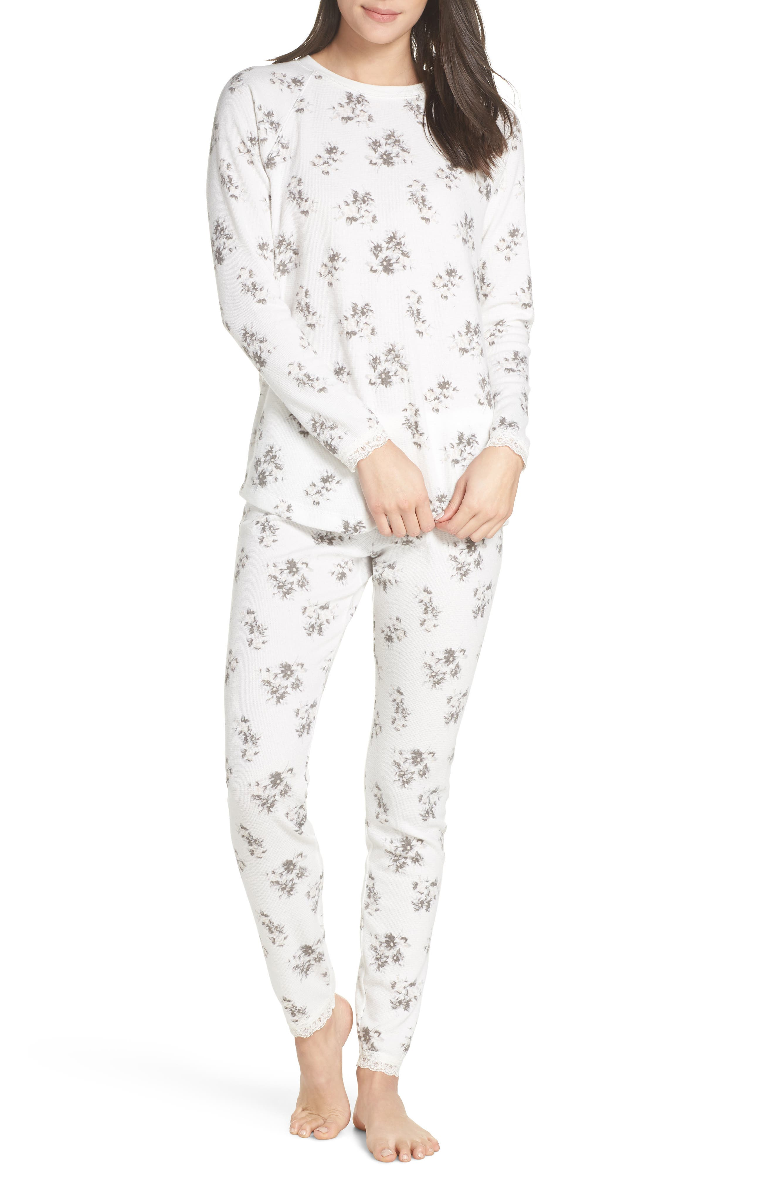 SOMETHING NAVY Thermal PJs, Main, color, 900