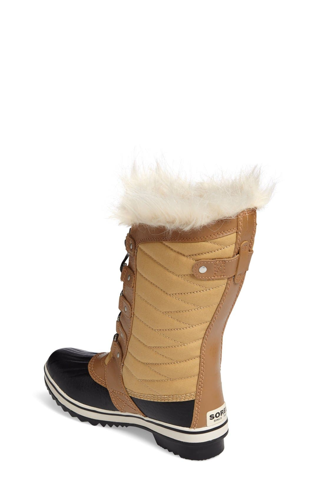 Tofino II Faux Fur Lined Waterproof Boot,                             Alternate thumbnail 2, color,                             CURRY/ ELK
