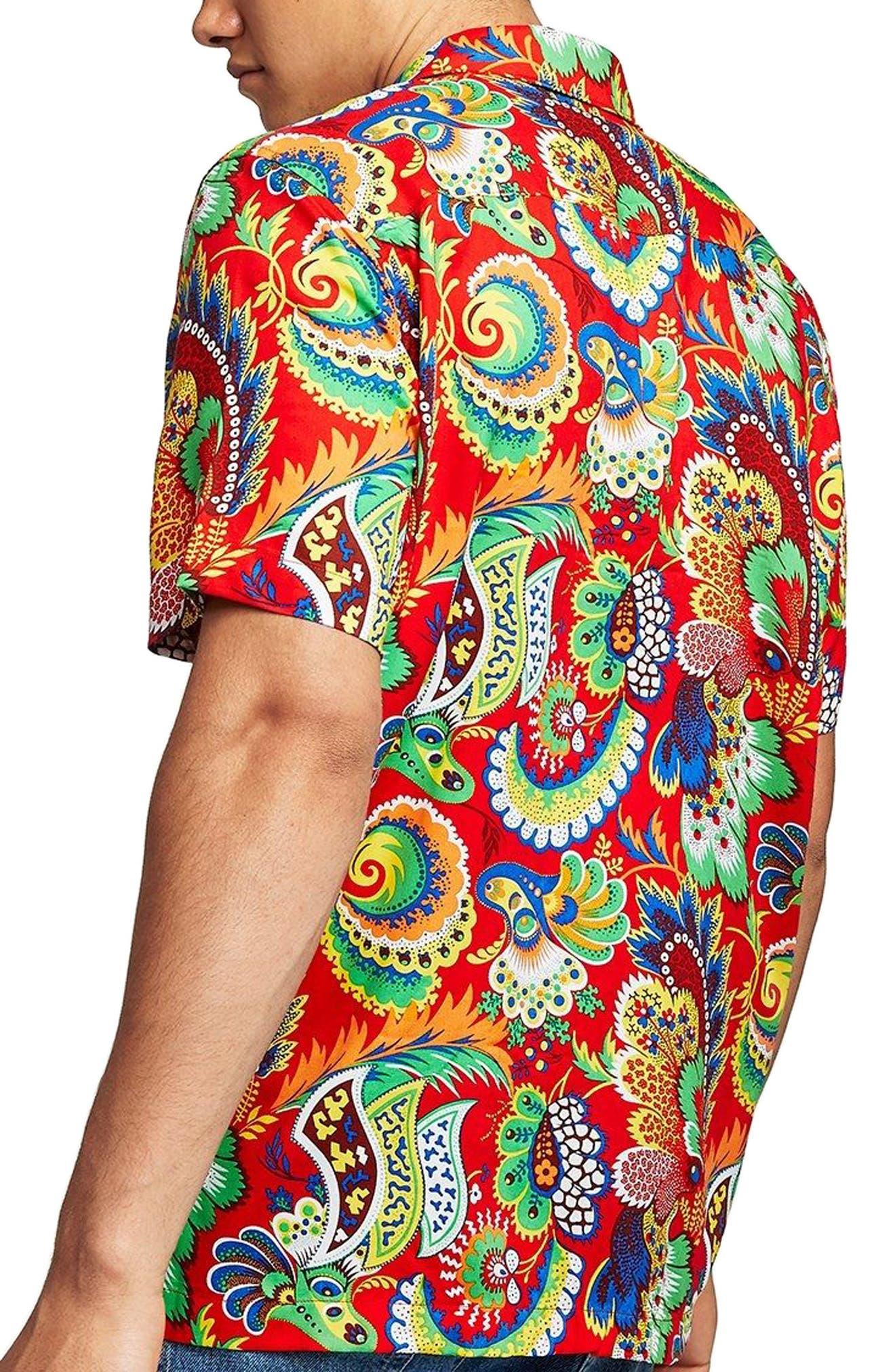 Multi Print Shirt,                             Alternate thumbnail 3, color,                             600