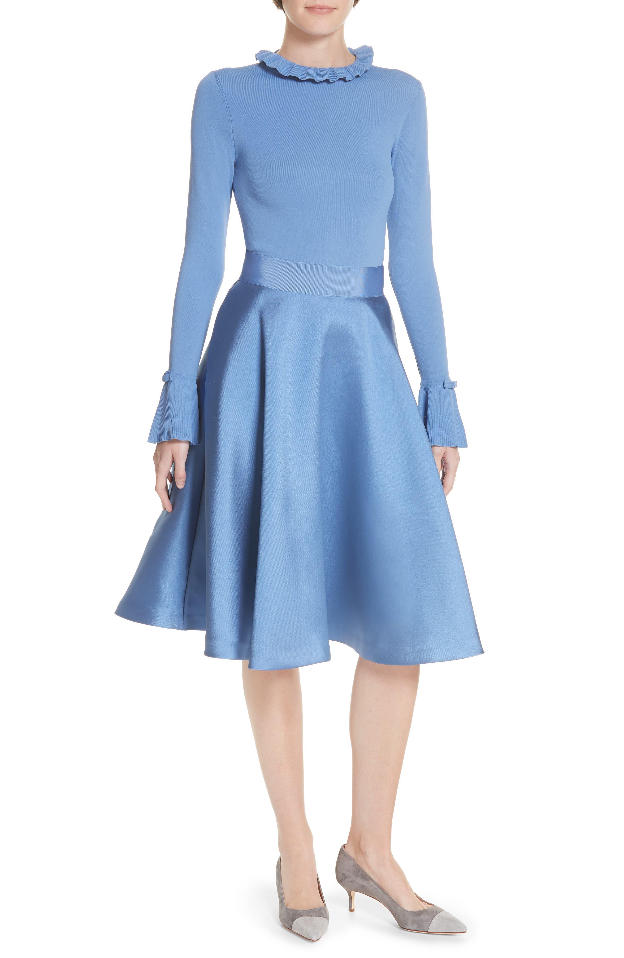 Ted Baker London Zadi Fit & Flare Dress, Blue