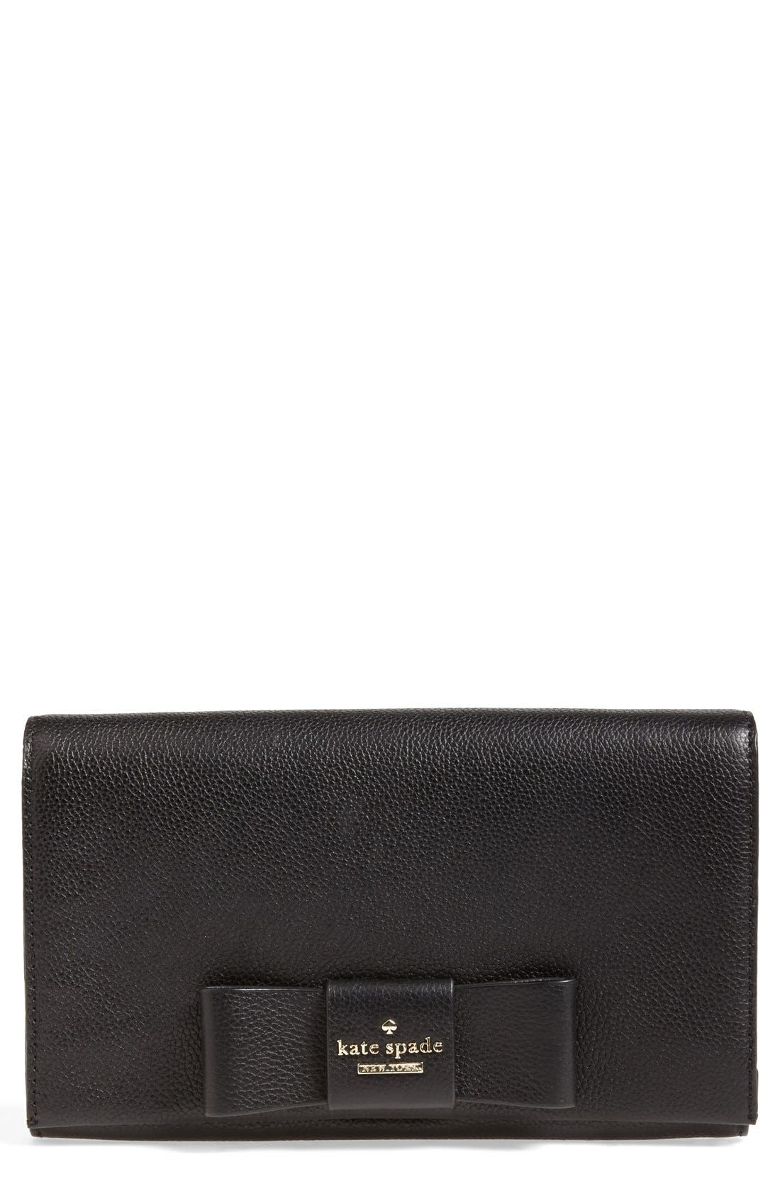 'julia street - tally' leather clutch,                             Main thumbnail 1, color,                             001