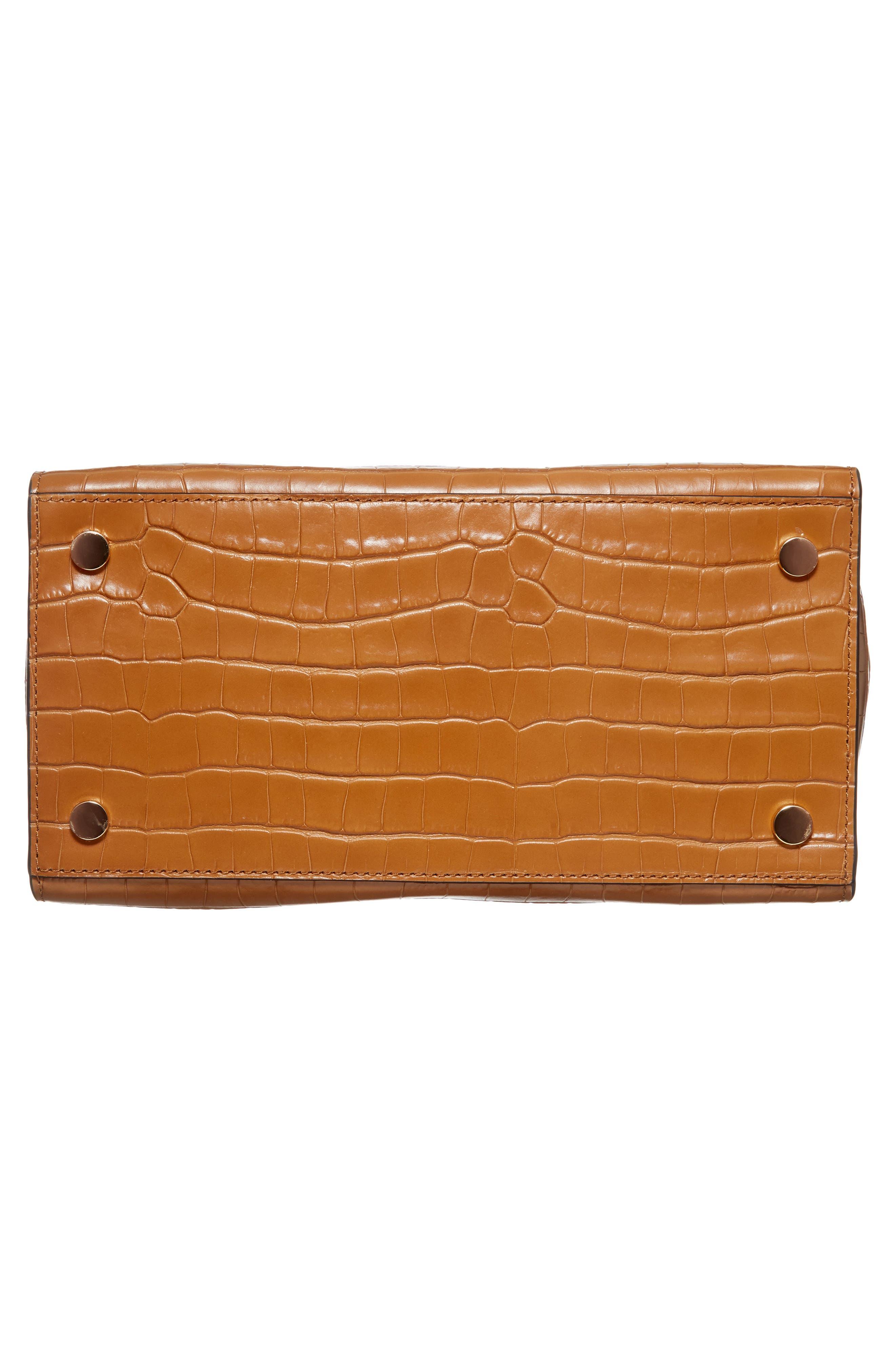 Large Hamilton Leather Satchel,                             Alternate thumbnail 6, color,