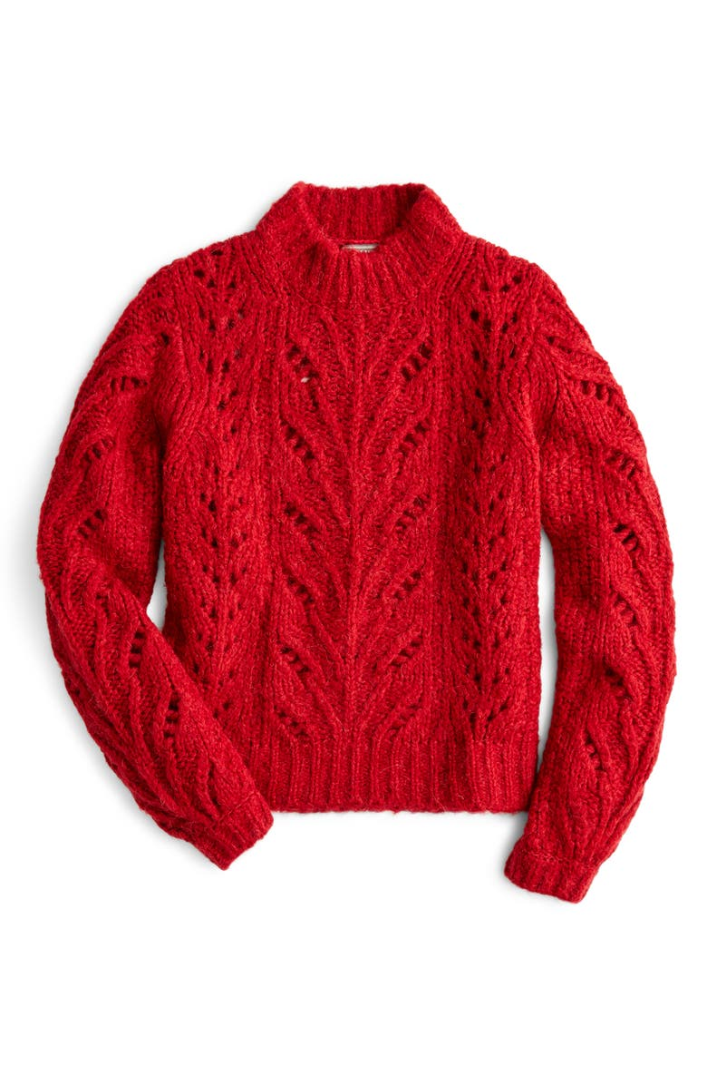 Point Sur Pointelle Sweater,                         Main,                         color, AZTEC BRICK