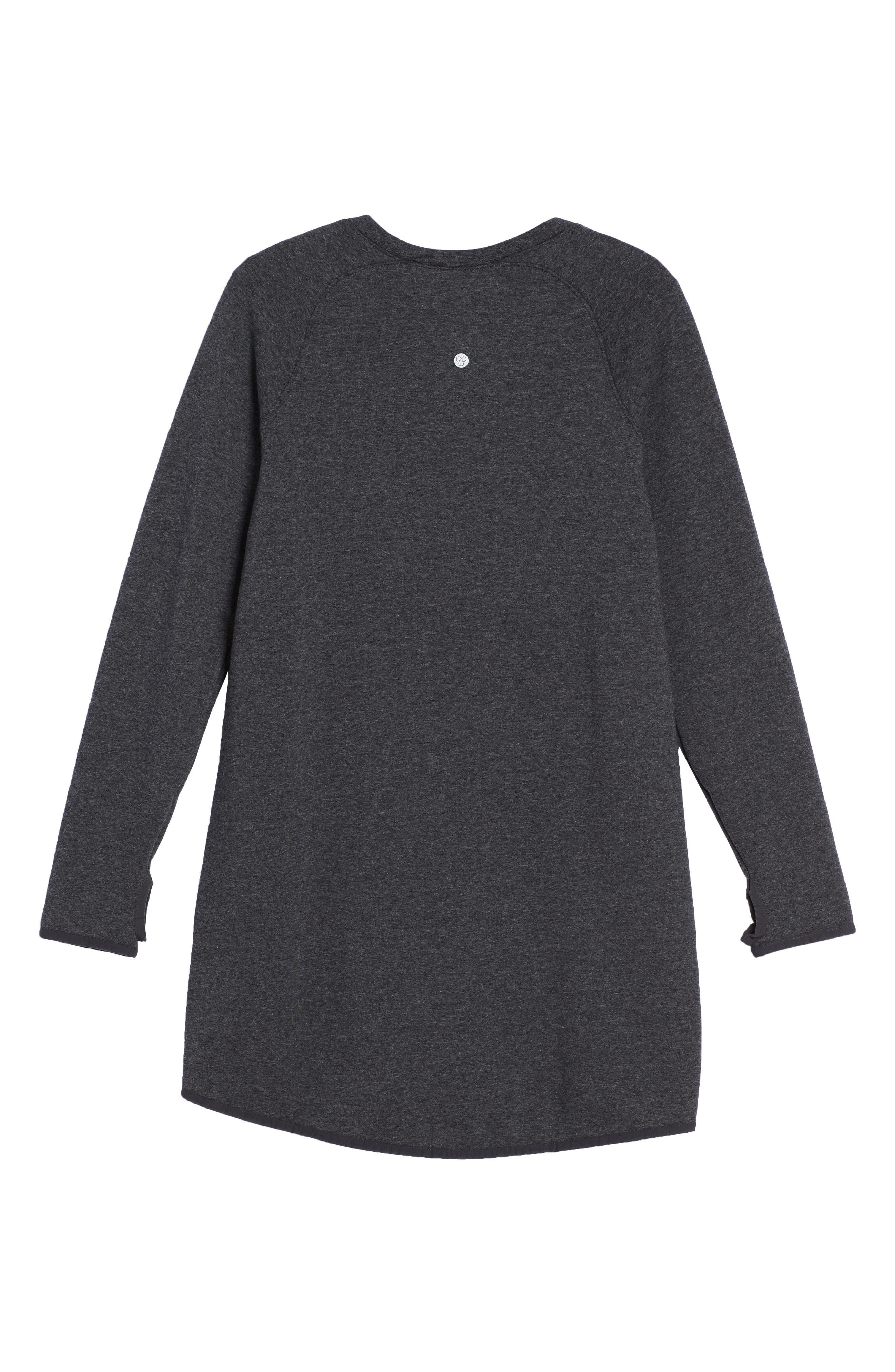 Zipper Sweatshirt Dress,                             Alternate thumbnail 3, color,