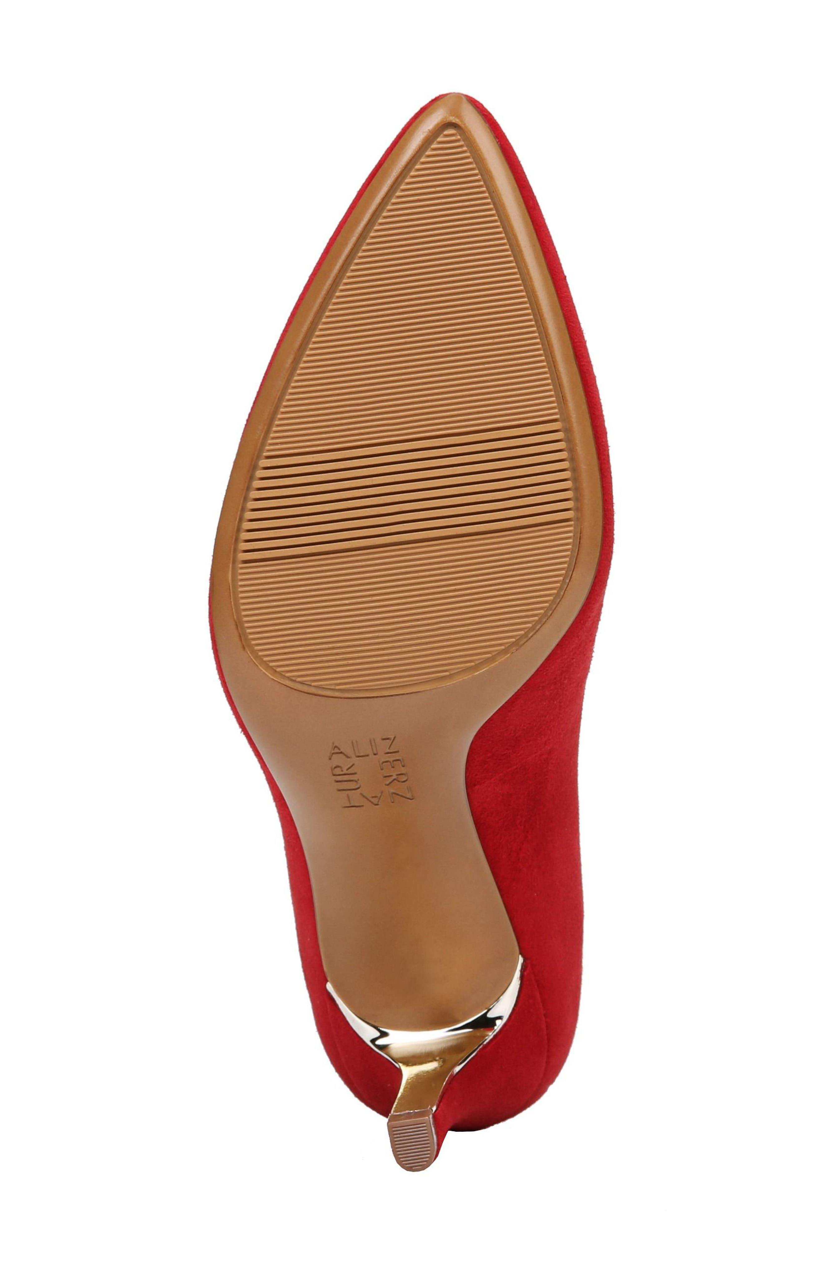 NATURALIZER,                             Natalie Pointy Toe Pump,                             Alternate thumbnail 6, color,                             RED SUEDE