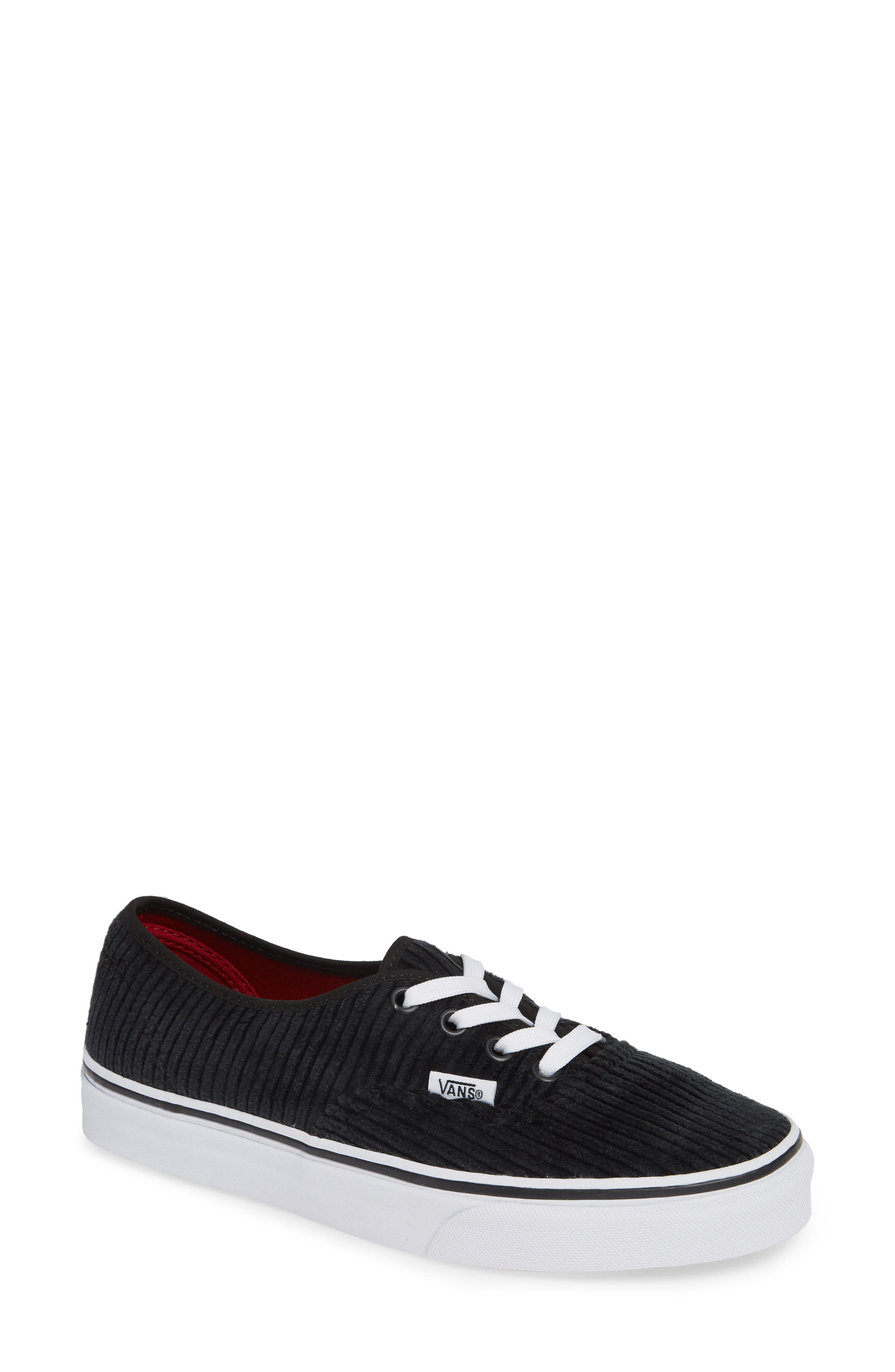 UA Authentic Design Assembly Sneaker,                         Main,                         color, BLACK/ TRUE WHITE