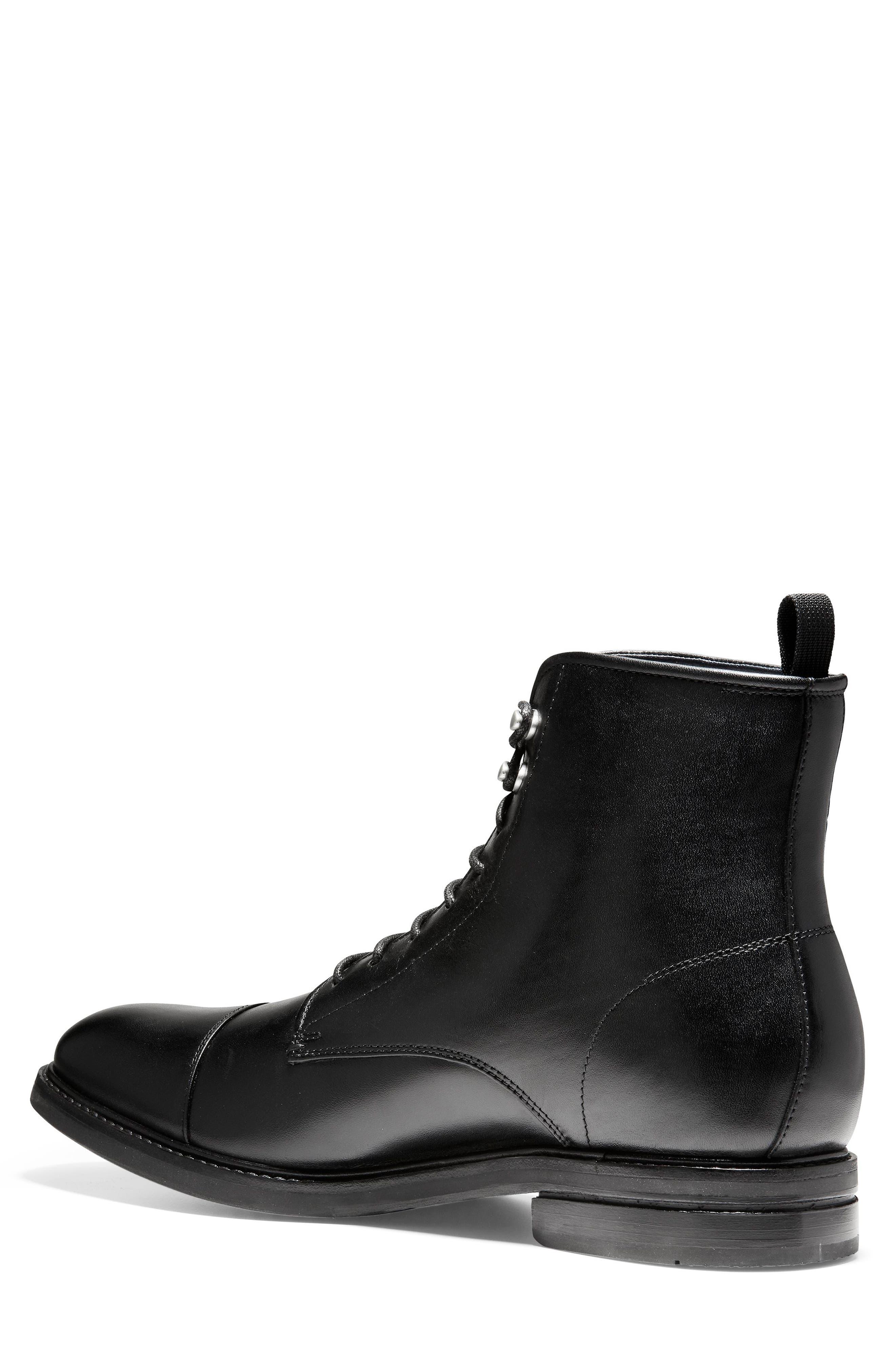 Wagner Grand Cap Toe Boot,                             Alternate thumbnail 2, color,                             BLACK LEATHER