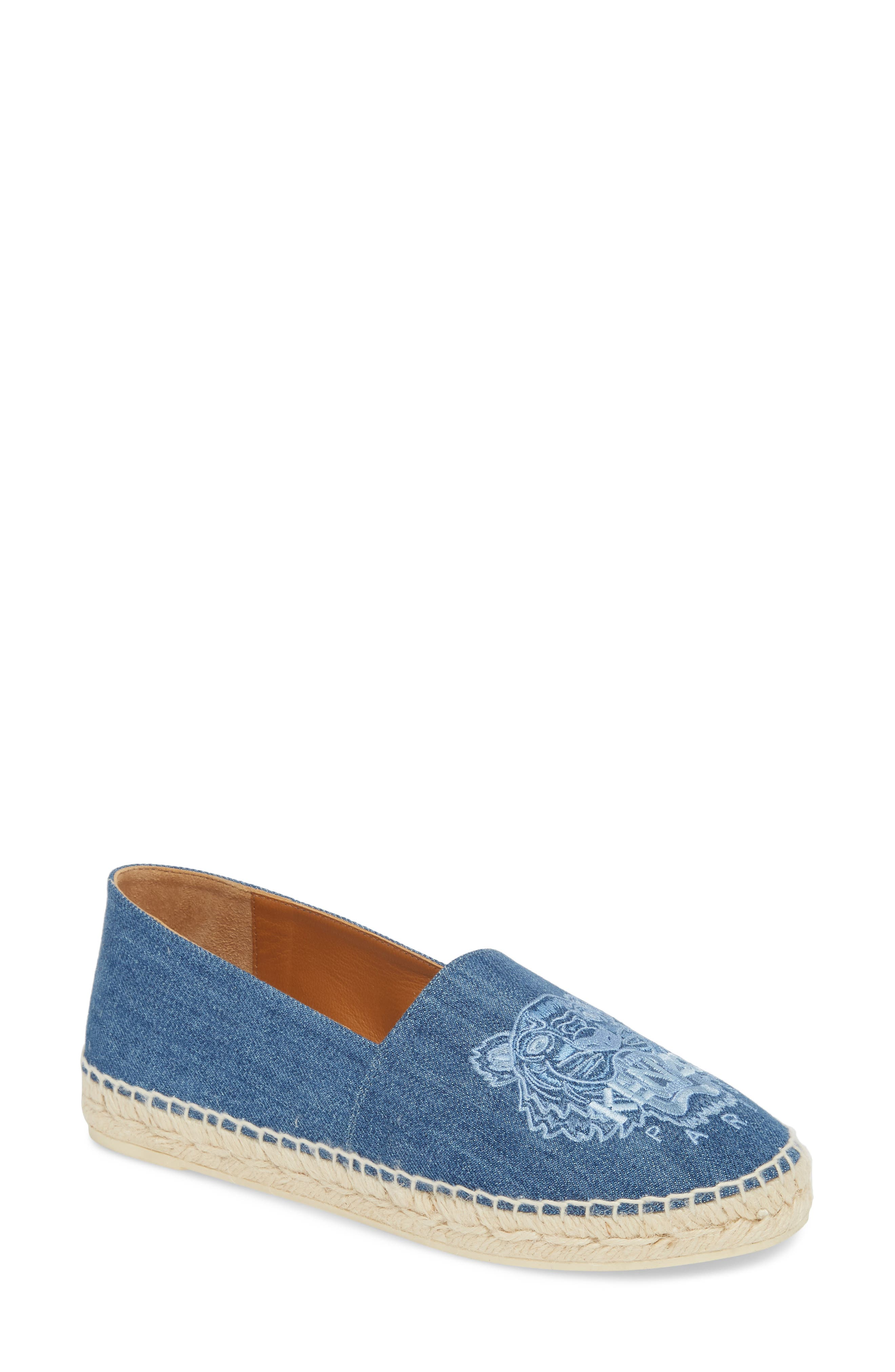 Tiger Embroidered Espadrille,                             Main thumbnail 1, color,                             452