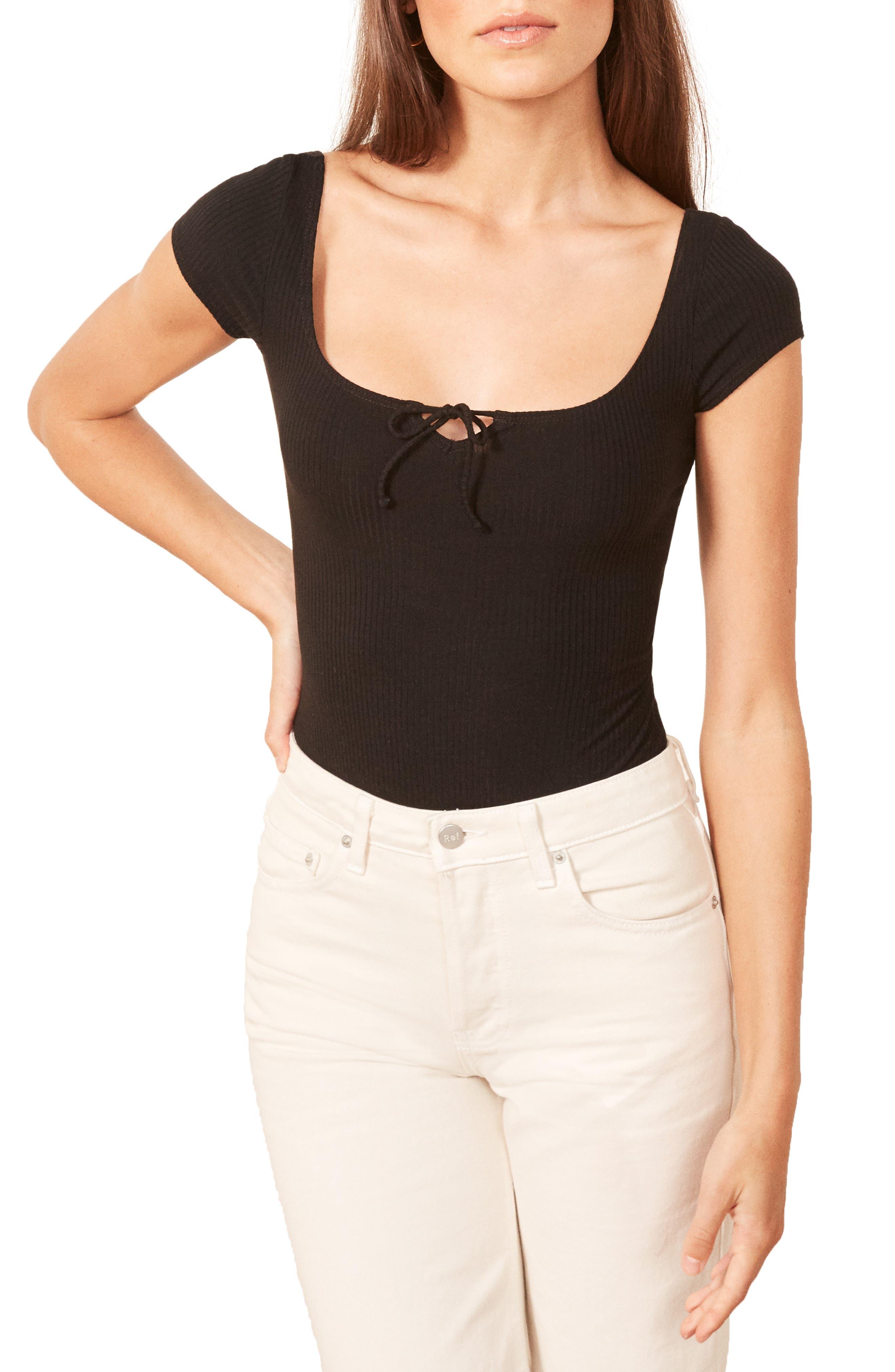 Loren Bodysuit,                         Main,                         color, BLACK